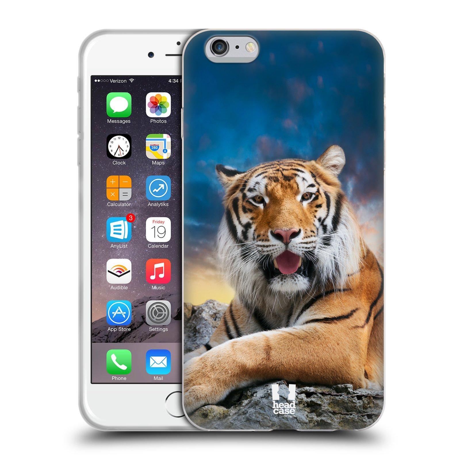 HEAD CASE silikonový obal na mobil Apple Iphone 6 PLUS/ 6S PLUS vzor Divočina, Divoký život a zvířata foto TYGR A NEBE