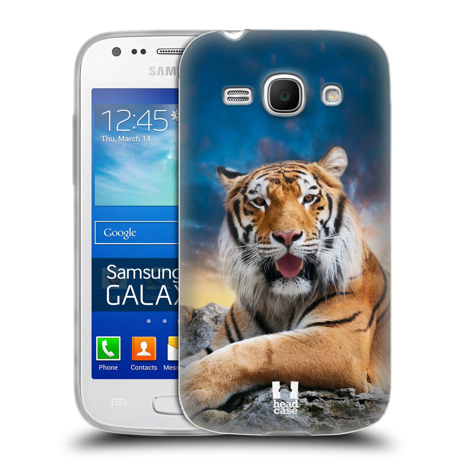 Silikonové pouzdro na mobil Samsung Galaxy Ace 3 HEAD CASE DIVOČINA – TYGR (Silikonový kryt či obal na mobilní telefon Samsung Galaxy Ace 3 GT-S7275)
