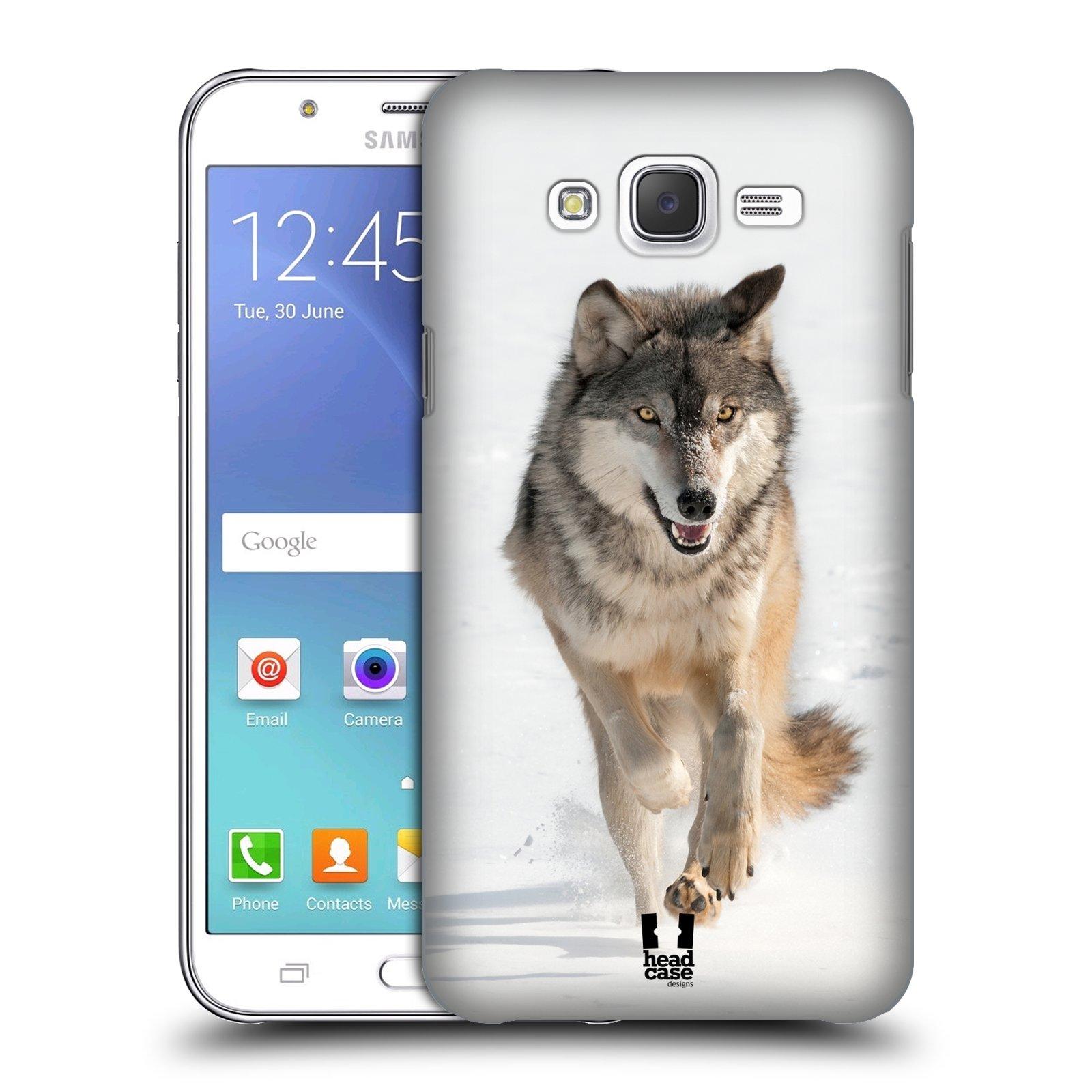 HEAD CASE plastový obal na mobil SAMSUNG Galaxy J5, J500 vzor Divočina, Divoký život a zvířata foto BĚŽÍCÍ VLK