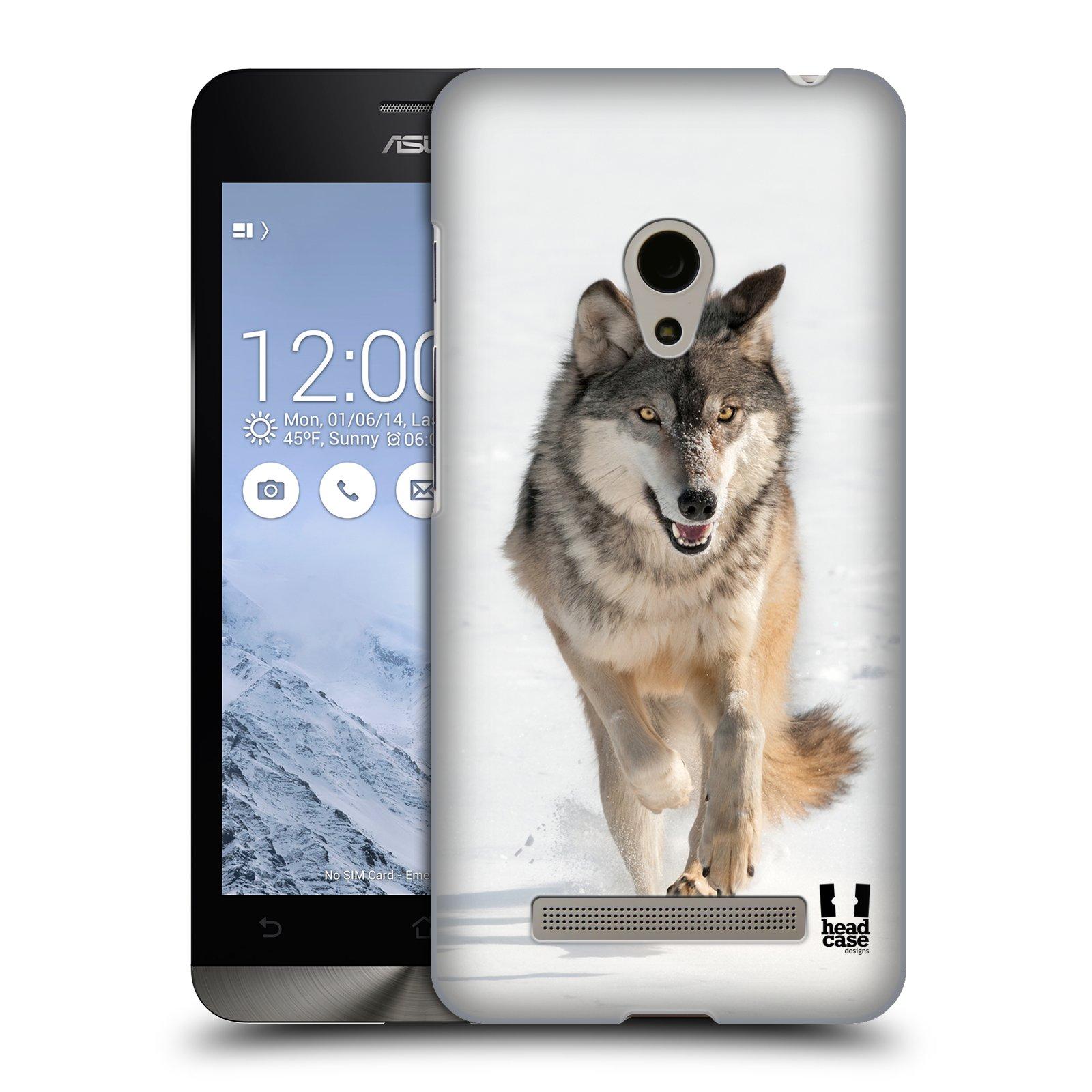 HEAD CASE plastový obal na mobil Asus Zenfone 5 vzor Divočina, Divoký život a zvířata foto BĚŽÍCÍ VLK