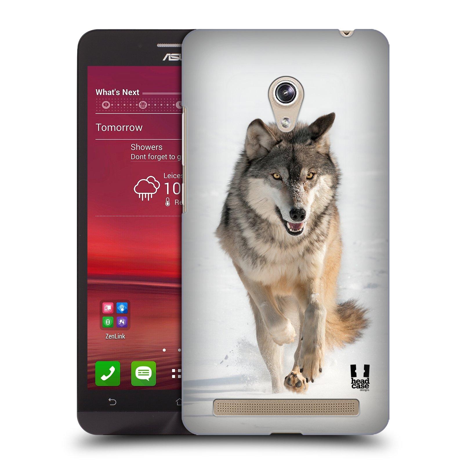 HEAD CASE plastový obal na mobil Asus Zenfone 6 vzor Divočina, Divoký život a zvířata foto BĚŽÍCÍ VLK