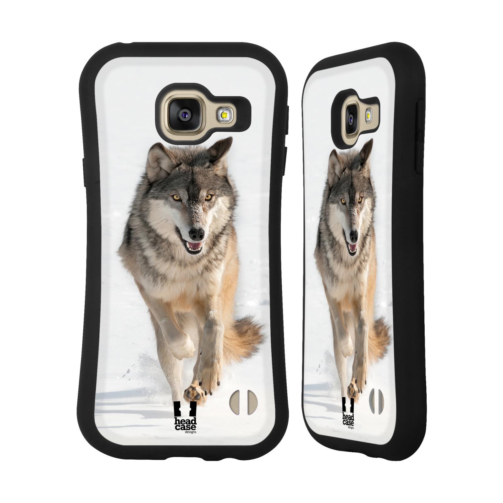 HEAD CASE silikon/plast odolný obal na mobil Samsung Galaxy A3 2016 vzor Divočina, Divoký život a zvířata foto BĚŽÍCÍ VLK