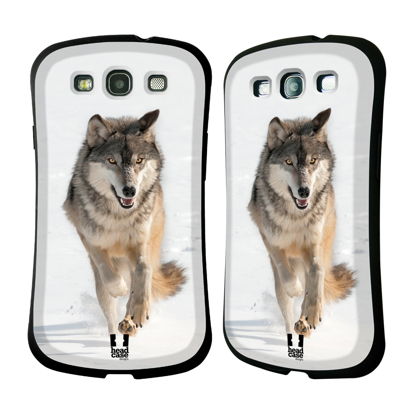 HEAD CASE silikon/plast odolný obal na mobil Samsung Galaxy S3 vzor Divočina, Divoký život a zvířata foto BĚŽÍCÍ VLK
