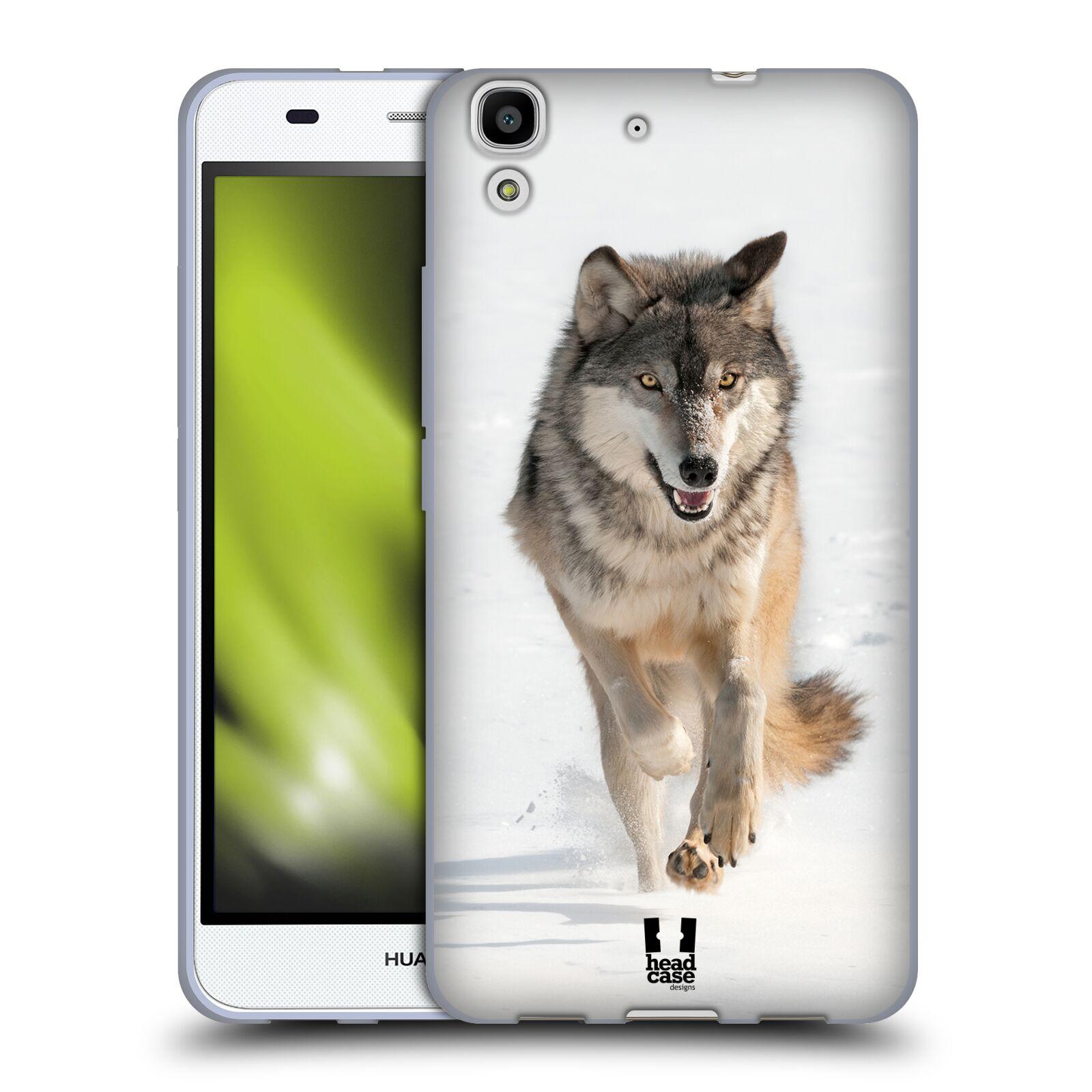 HEAD CASE silikonový obal na mobil HUAWEI Y6 vzor Divočina, Divoký život a zvířata foto BĚŽÍCÍ VLK