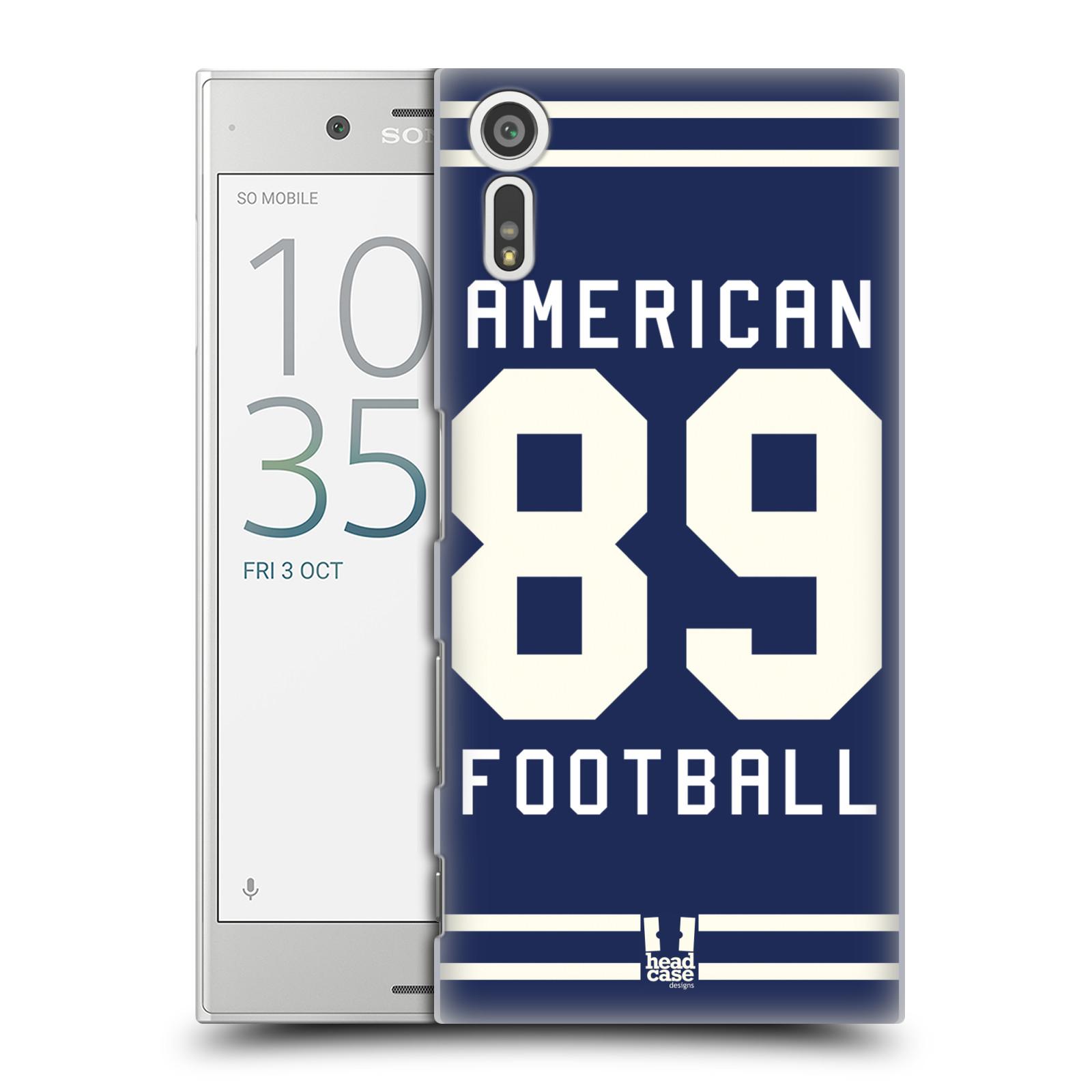 HEAD CASE plastový obal na mobil Sony Xperia XZ Sportovní dres modrý Americký Fotbal