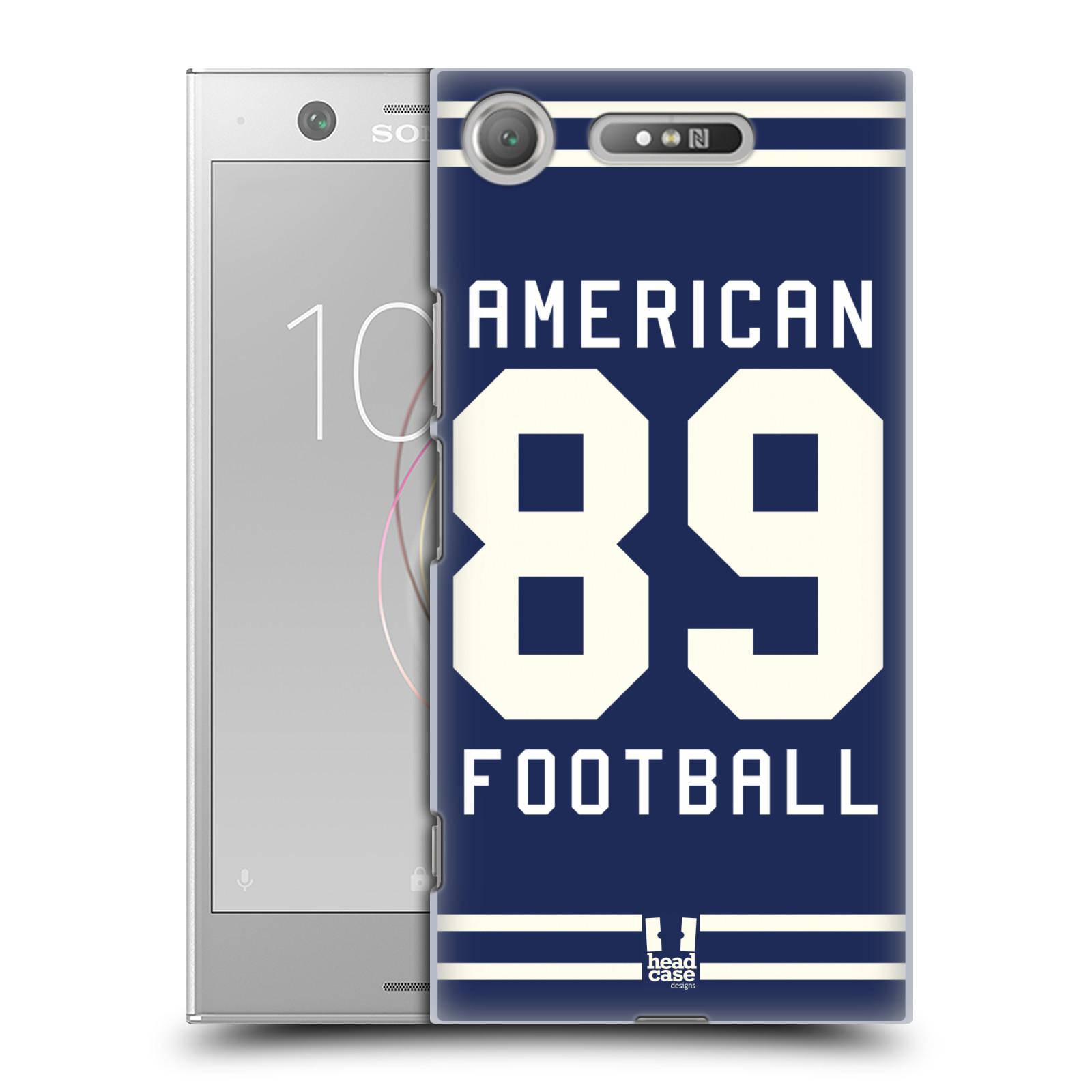 HEAD CASE plastový obal na mobil Sony Xperia XZ1 Sportovní dres modrý Americký Fotbal