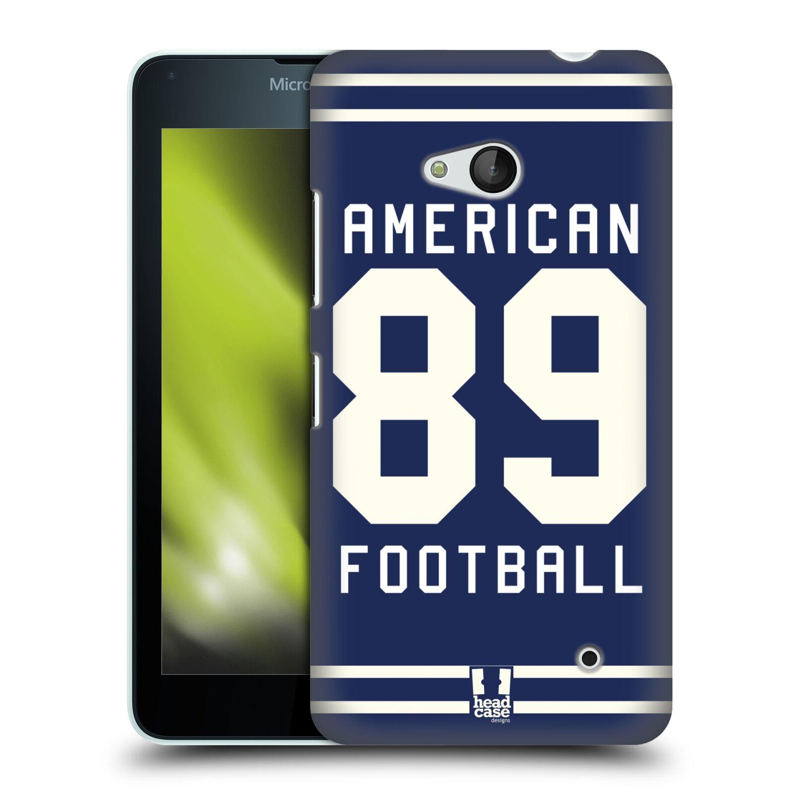 HEAD CASE plastový obal na mobil Nokia Lumia 640 Sportovní dres modrý Americký Fotbal