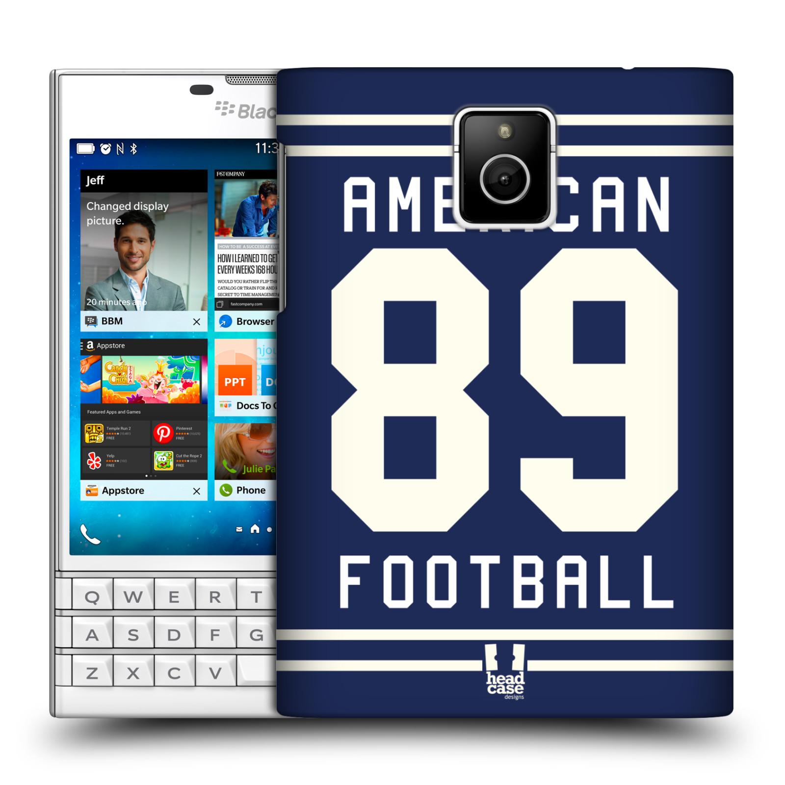 HEAD CASE plastový obal na mobil BlackBerry Passport Sportovní dres modrý Americký Fotbal