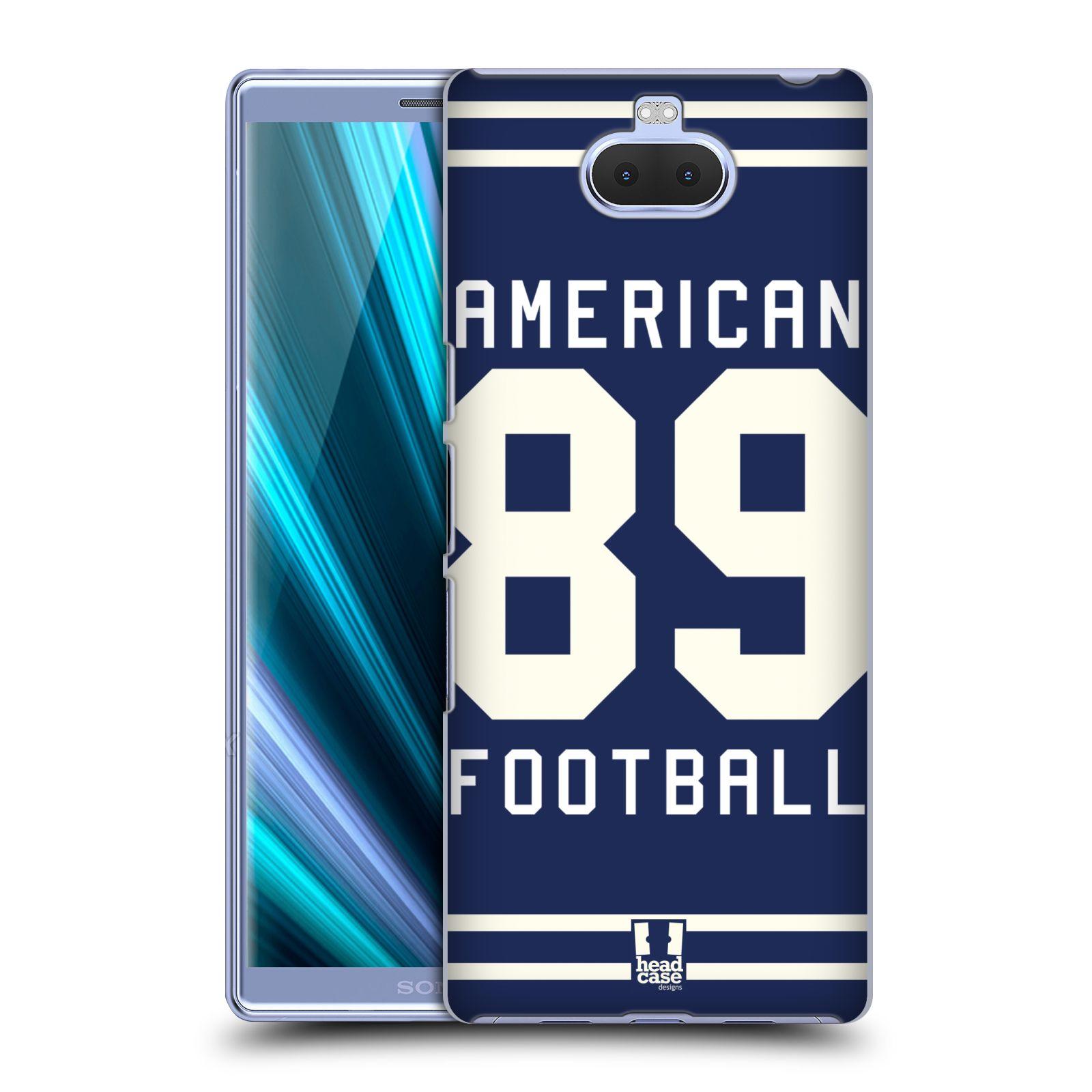 Pouzdro na mobil Sony Xperia 10 - Head Case - Sportovní dres modrý Americký Fotbal