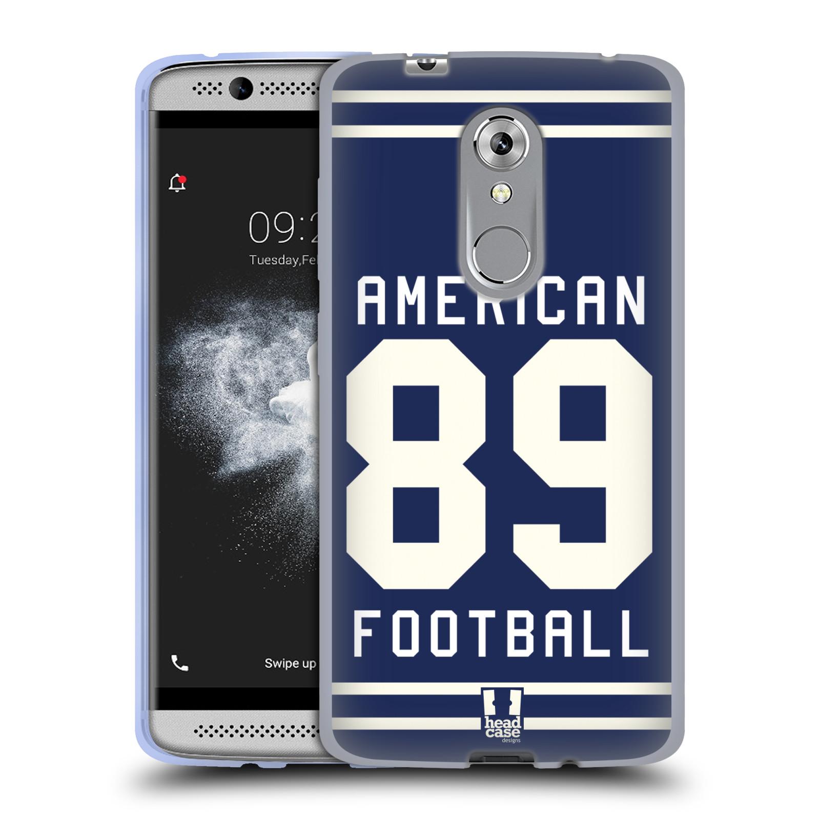 HEAD CASE silikonový obal na mobil ZTE Axon 7 MINI Sportovní dres modrý Americký Fotbal
