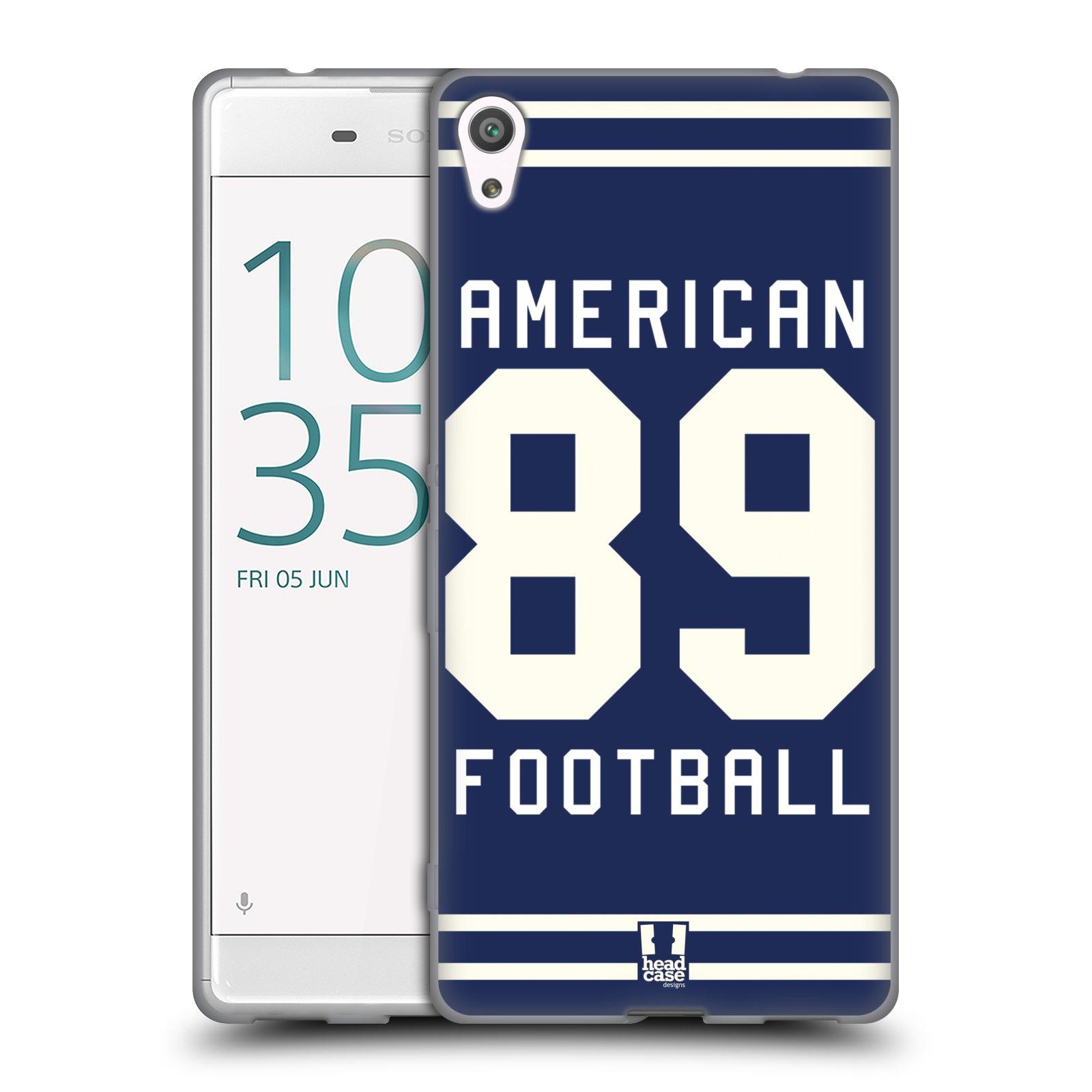 HEAD CASE silikonový obal na mobil Sony Xperia XA ULTRA Sportovní dres modrý Americký Fotbal