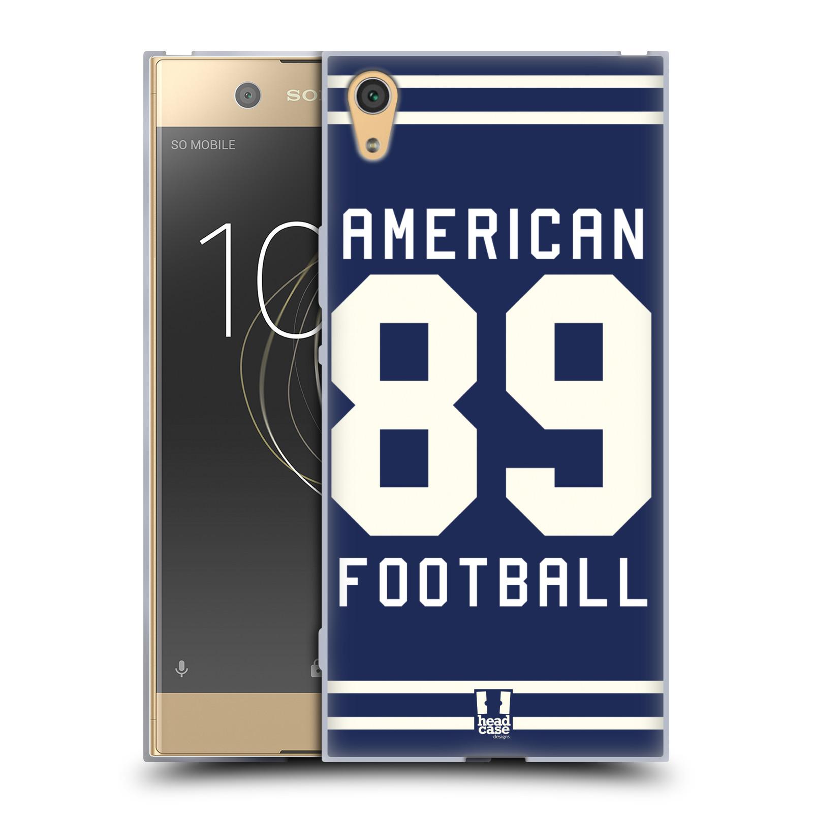 HEAD CASE silikonový obal na mobil Sony Xperia XA1 ULTRA Sportovní dres modrý Americký Fotbal