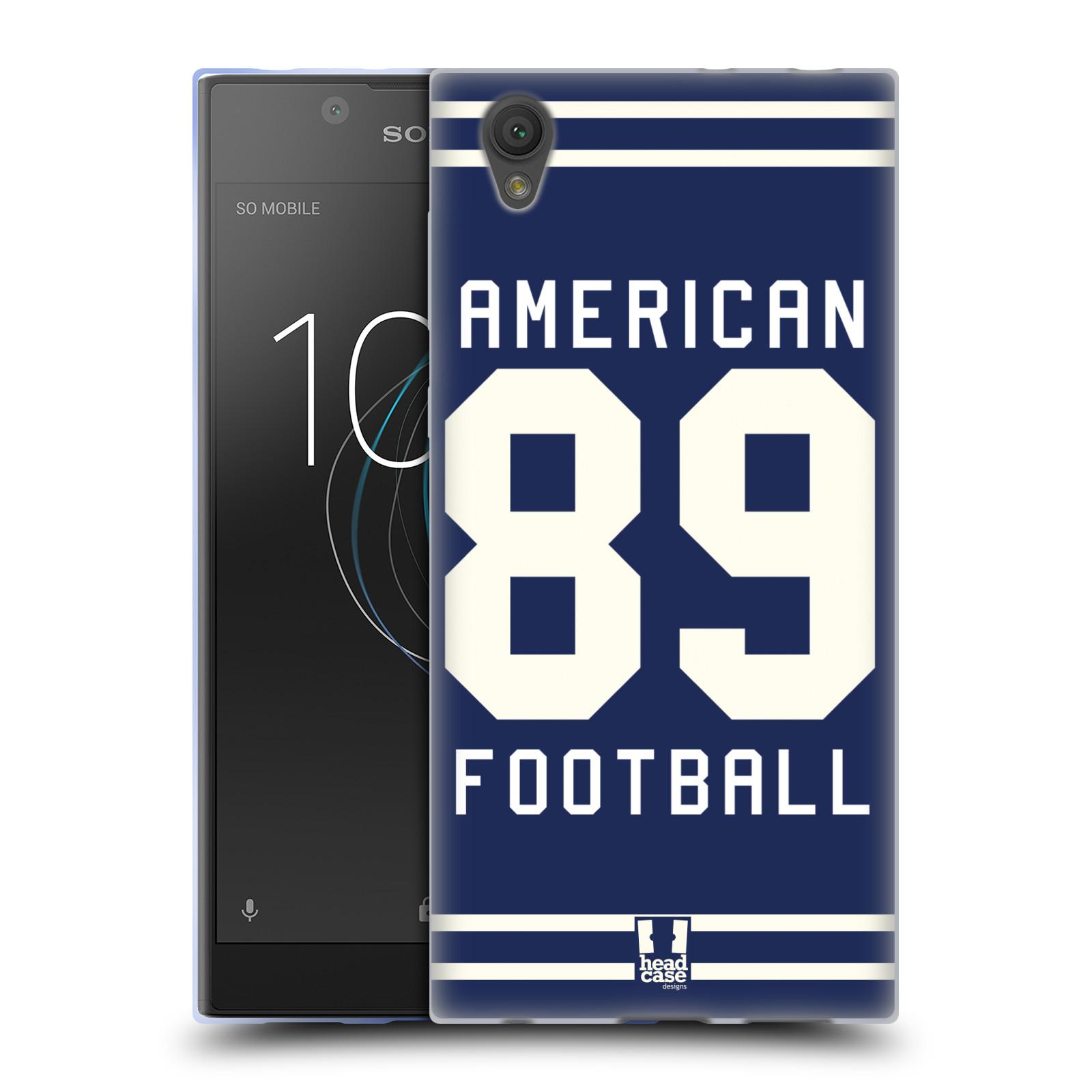 HEAD CASE silikonový obal na mobil Sony Xperia L1 Sportovní dres modrý Americký Fotbal
