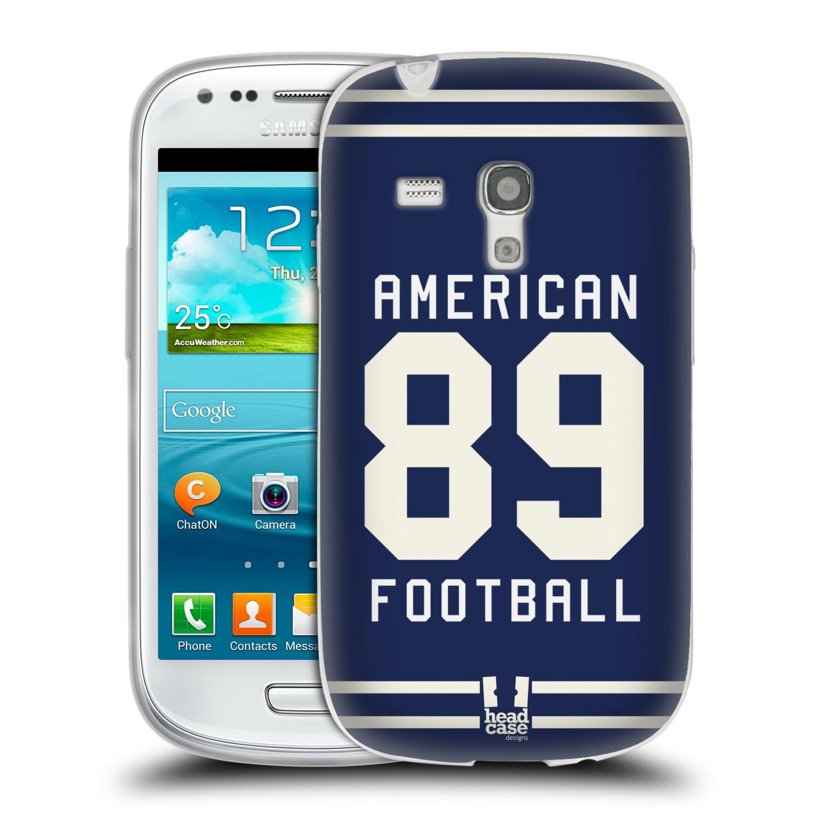 HEAD CASE silikonový obal na mobil Samsung Galaxy S3 MINI Sportovní dres modrý Americký Fotbal