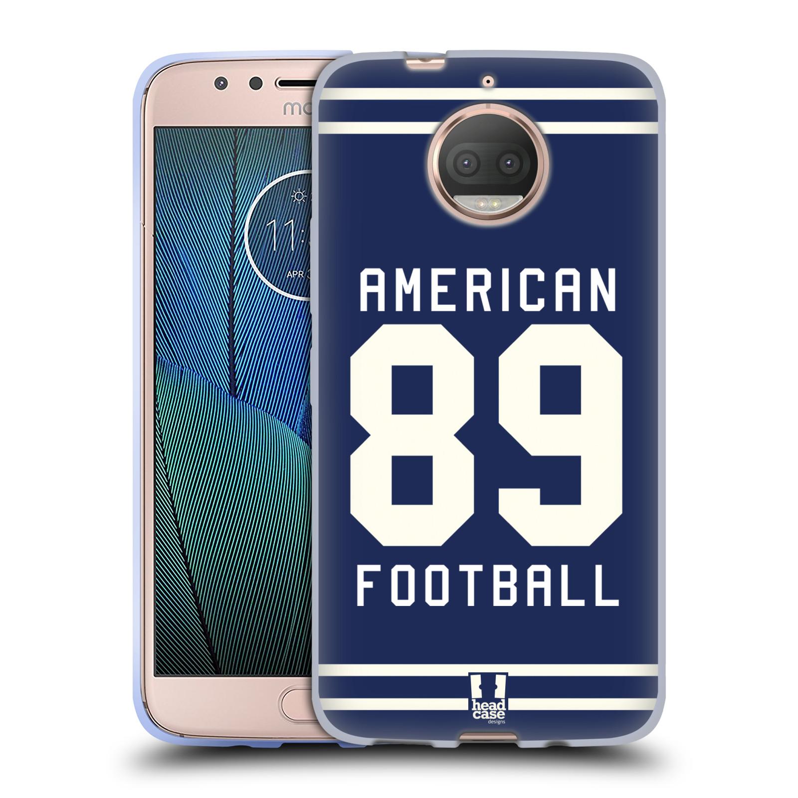 HEAD CASE silikonový obal na mobil Lenovo Moto G5s PLUS Sportovní dres modrý Americký Fotbal