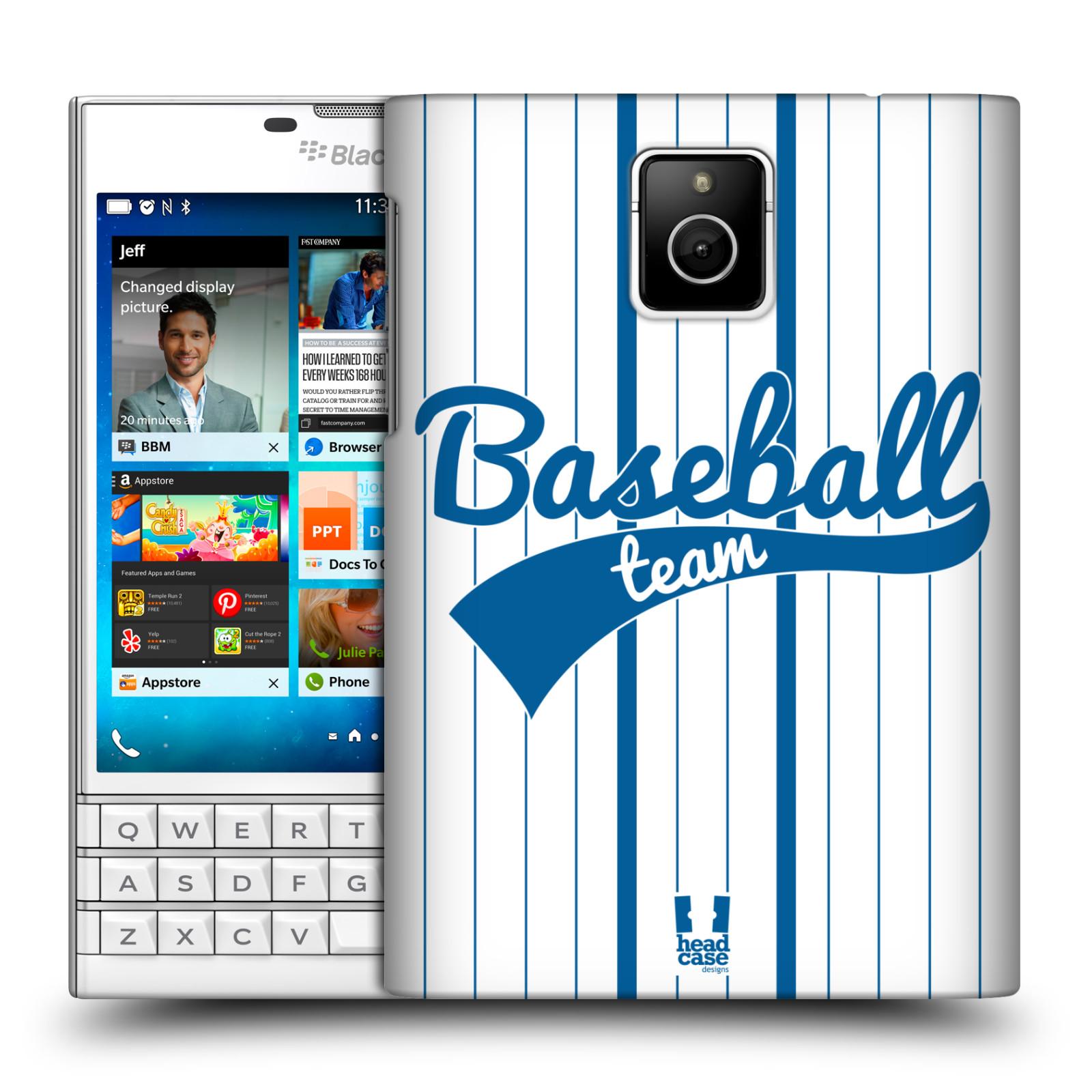 HEAD CASE plastový obal na mobil BlackBerry Passport Sportovní dres Baseball