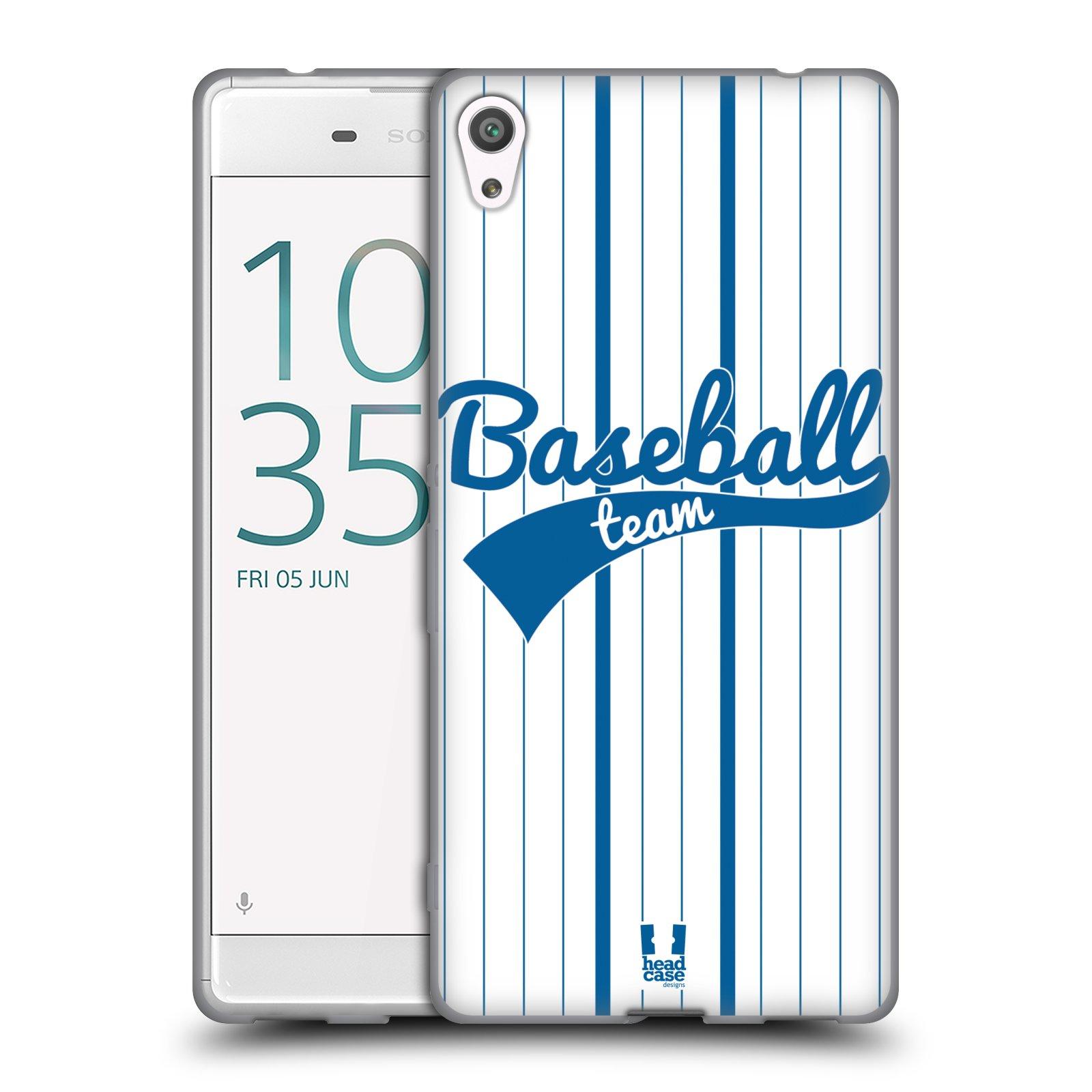 HEAD CASE silikonový obal na mobil Sony Xperia XA ULTRA Sportovní dres Baseball