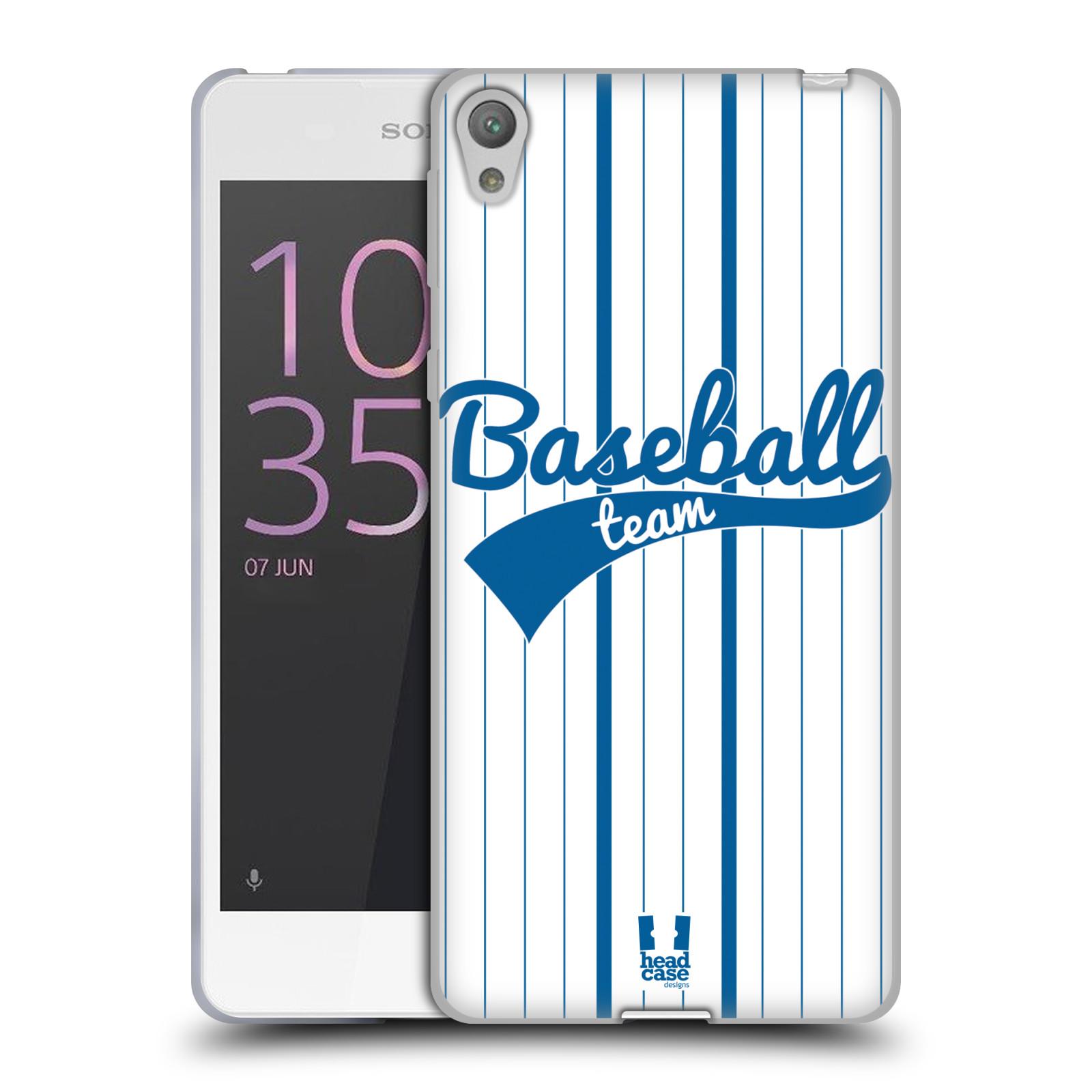 HEAD CASE silikonový obal na mobil Sony Xperia E5 Sportovní dres Baseball