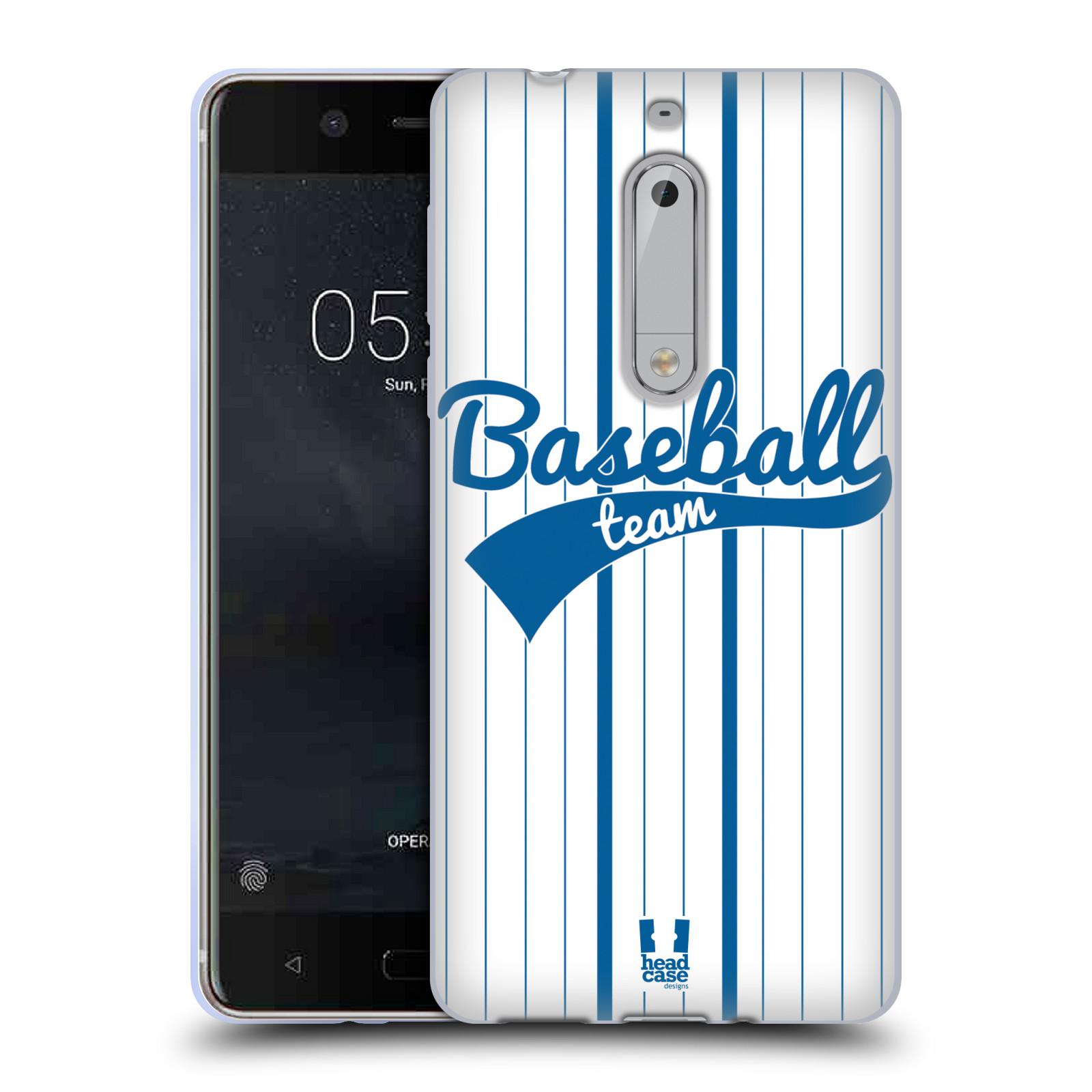 HEAD CASE silikonový obal na mobil Nokia 5 Sportovní dres Baseball