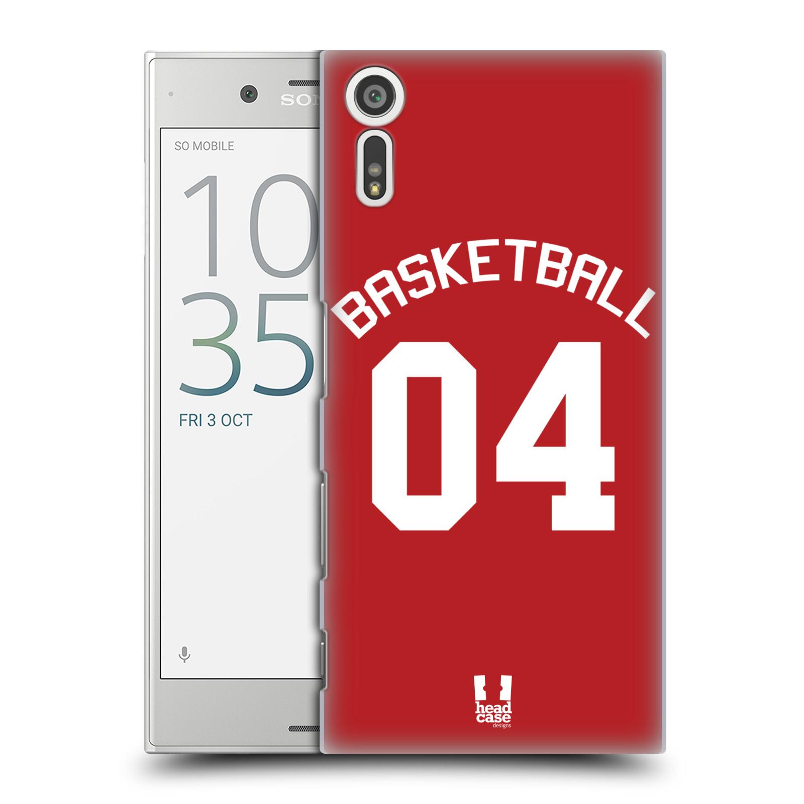 HEAD CASE plastový obal na mobil Sony Xperia XZ Sportovní dres Basketbal červený