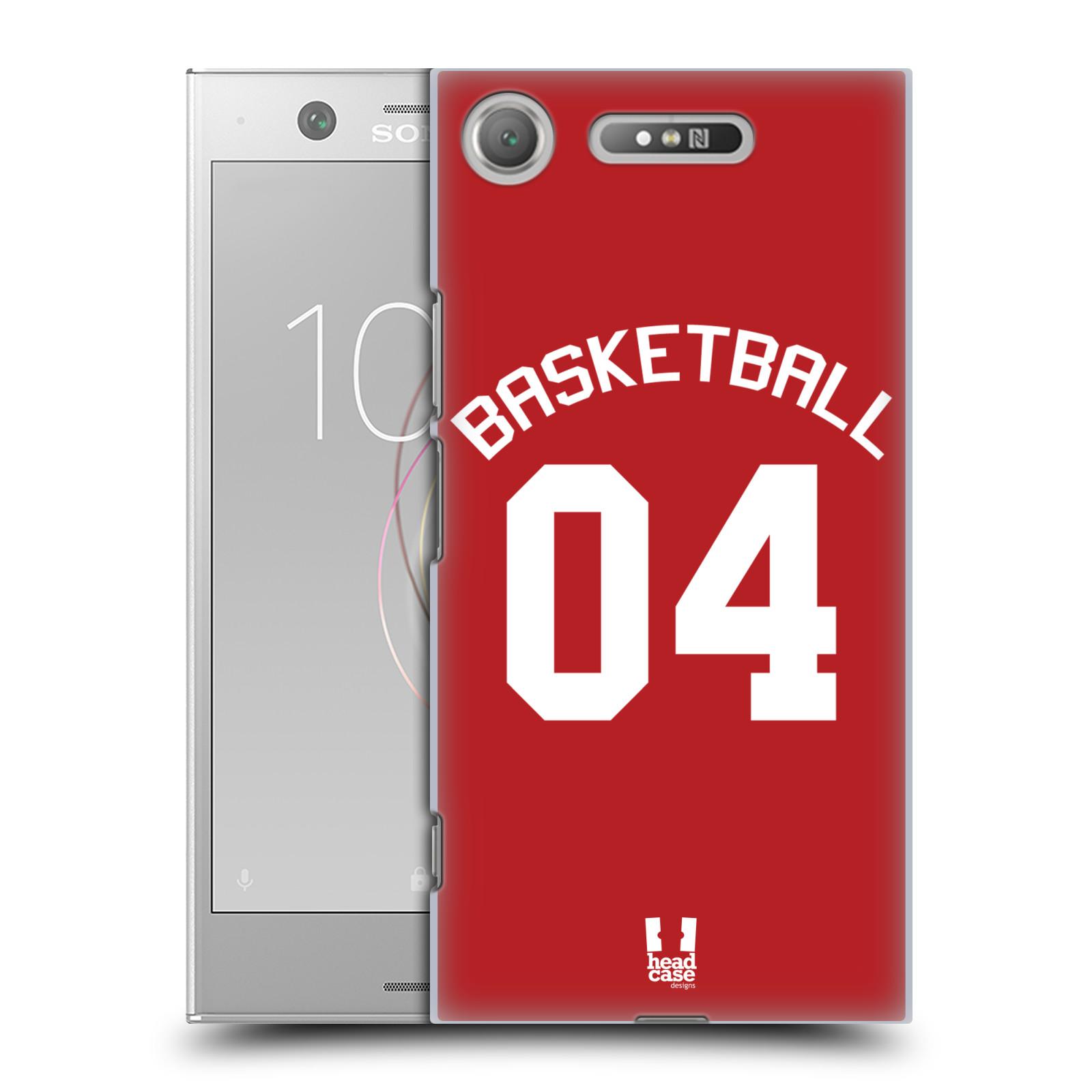 HEAD CASE plastový obal na mobil Sony Xperia XZ1 Sportovní dres Basketbal červený