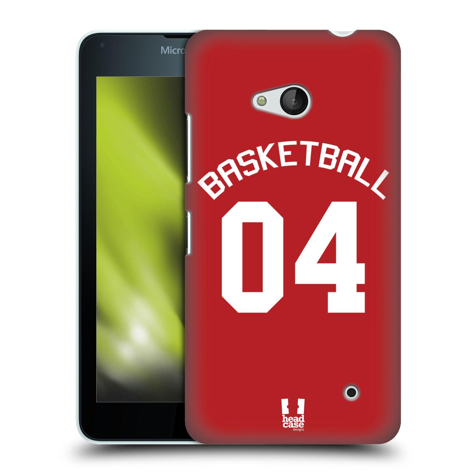 HEAD CASE plastový obal na mobil Nokia Lumia 640 Sportovní dres Basketbal červený