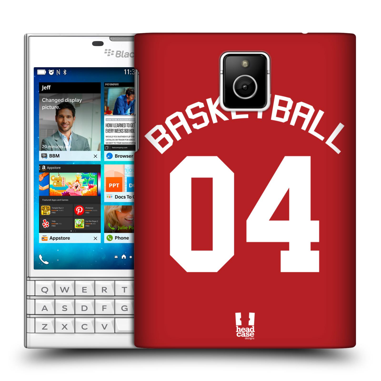 HEAD CASE plastový obal na mobil BlackBerry Passport Sportovní dres Basketbal červený
