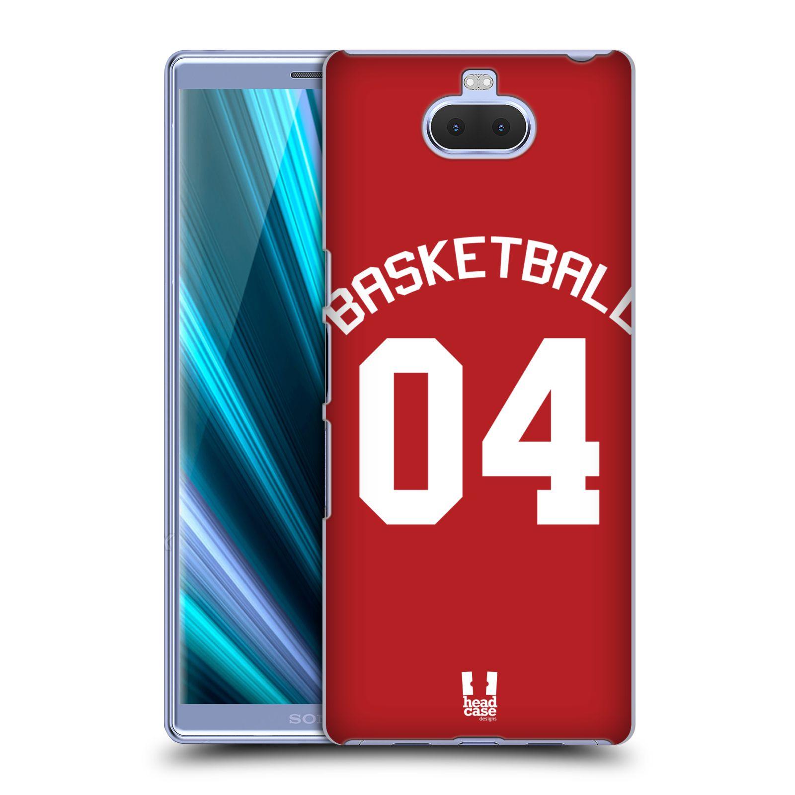 Pouzdro na mobil Sony Xperia 10 - Head Case - Sportovní dres Basketbal červený