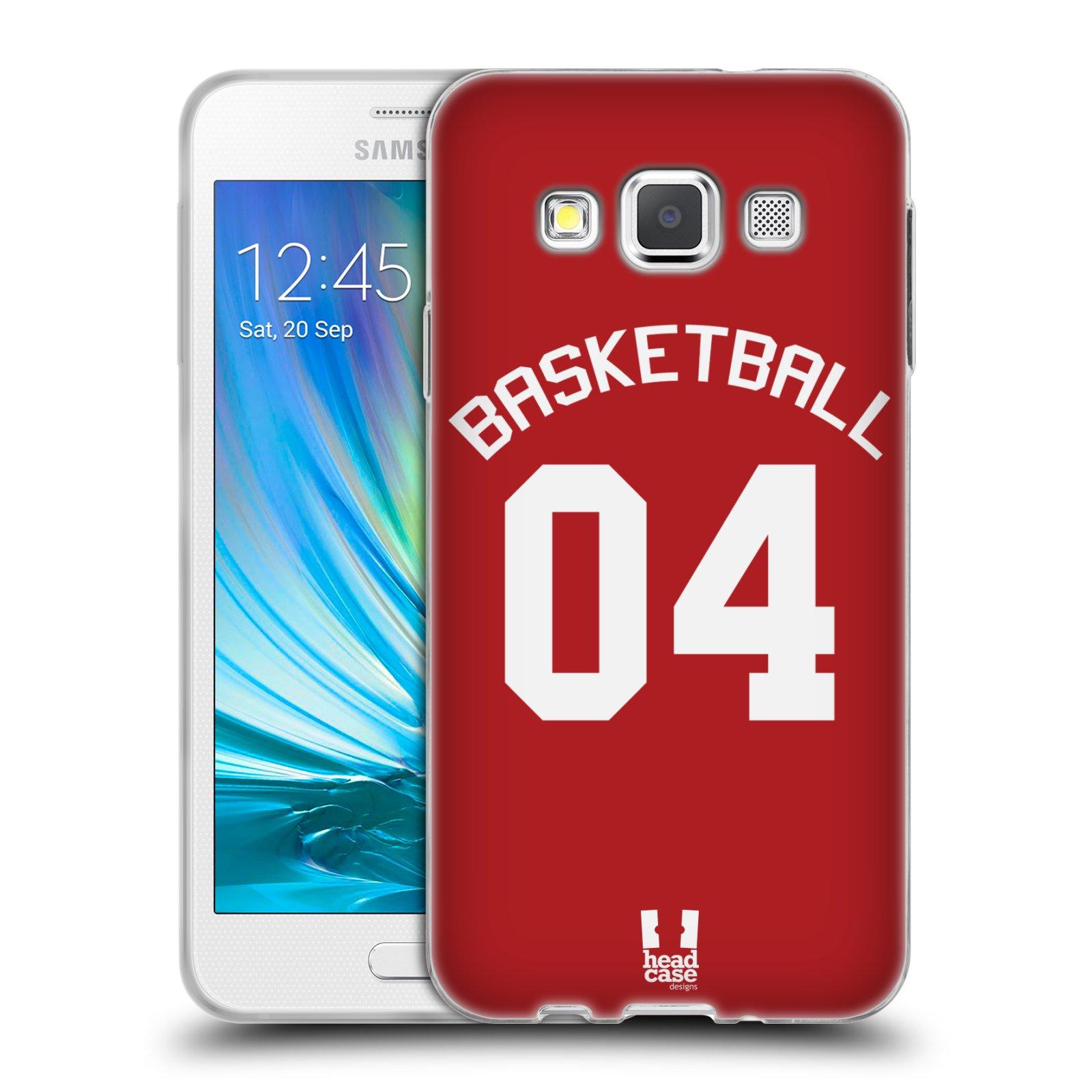 HEAD CASE silikonový obal na mobil Samsung Galaxy A3 (A300) Sportovní dres Basketbal červený