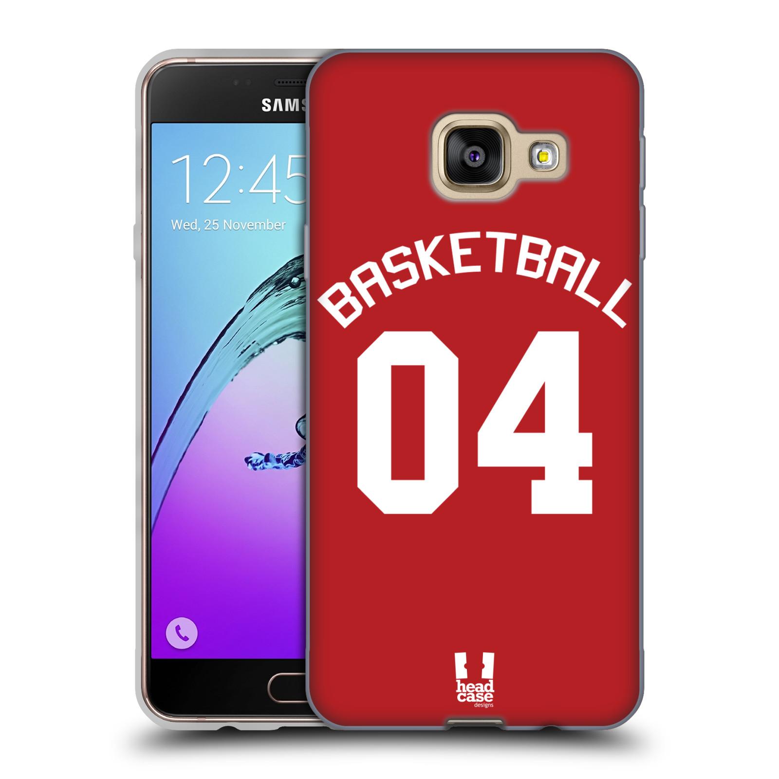 HEAD CASE silikonový obal na mobil Samsung Galaxy A3 2016 (A310) Sportovní dres Basketbal červený
