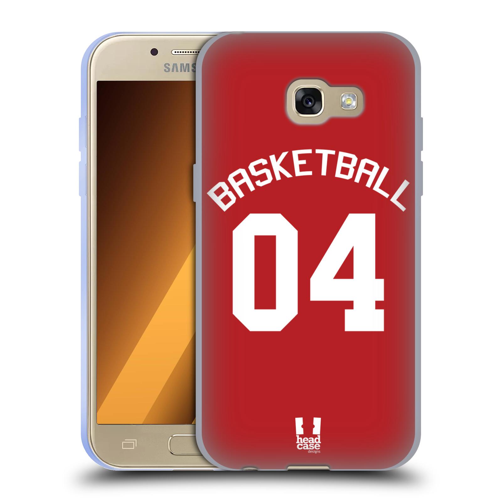 HEAD CASE silikonový obal na mobil Samsung Galaxy A3 2017 (A320) Sportovní dres Basketbal červený