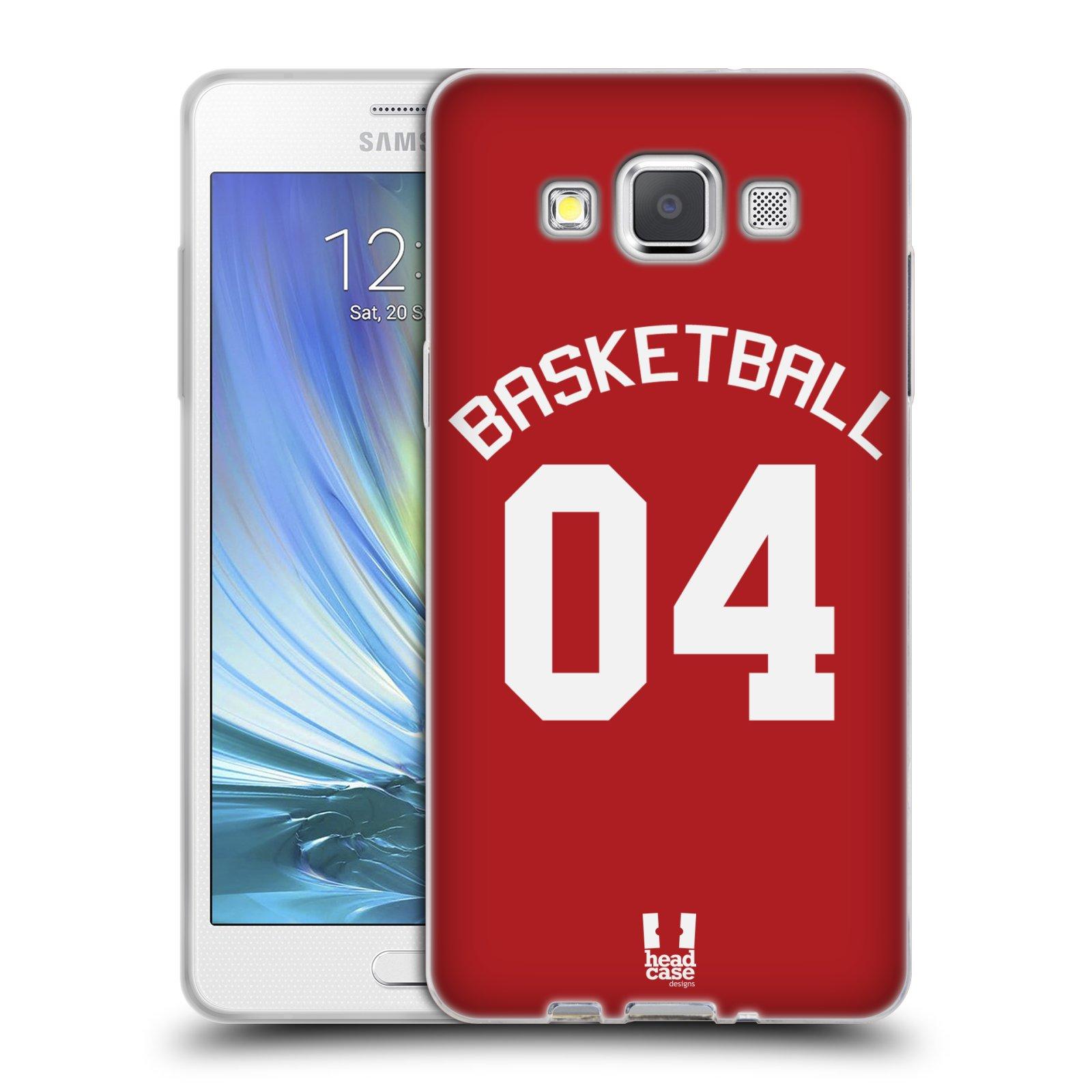 HEAD CASE silikonový obal na mobil Samsung Galaxy A5 (A500) Sportovní dres Basketbal červený
