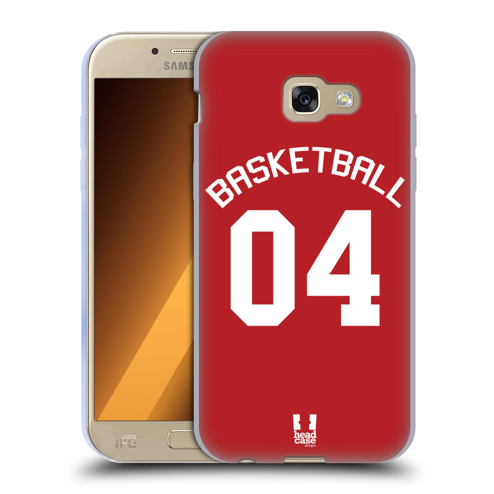 HEAD CASE silikonový obal na mobil Samsung Galaxy A5 2017 (A520) Sportovní dres Basketbal červený