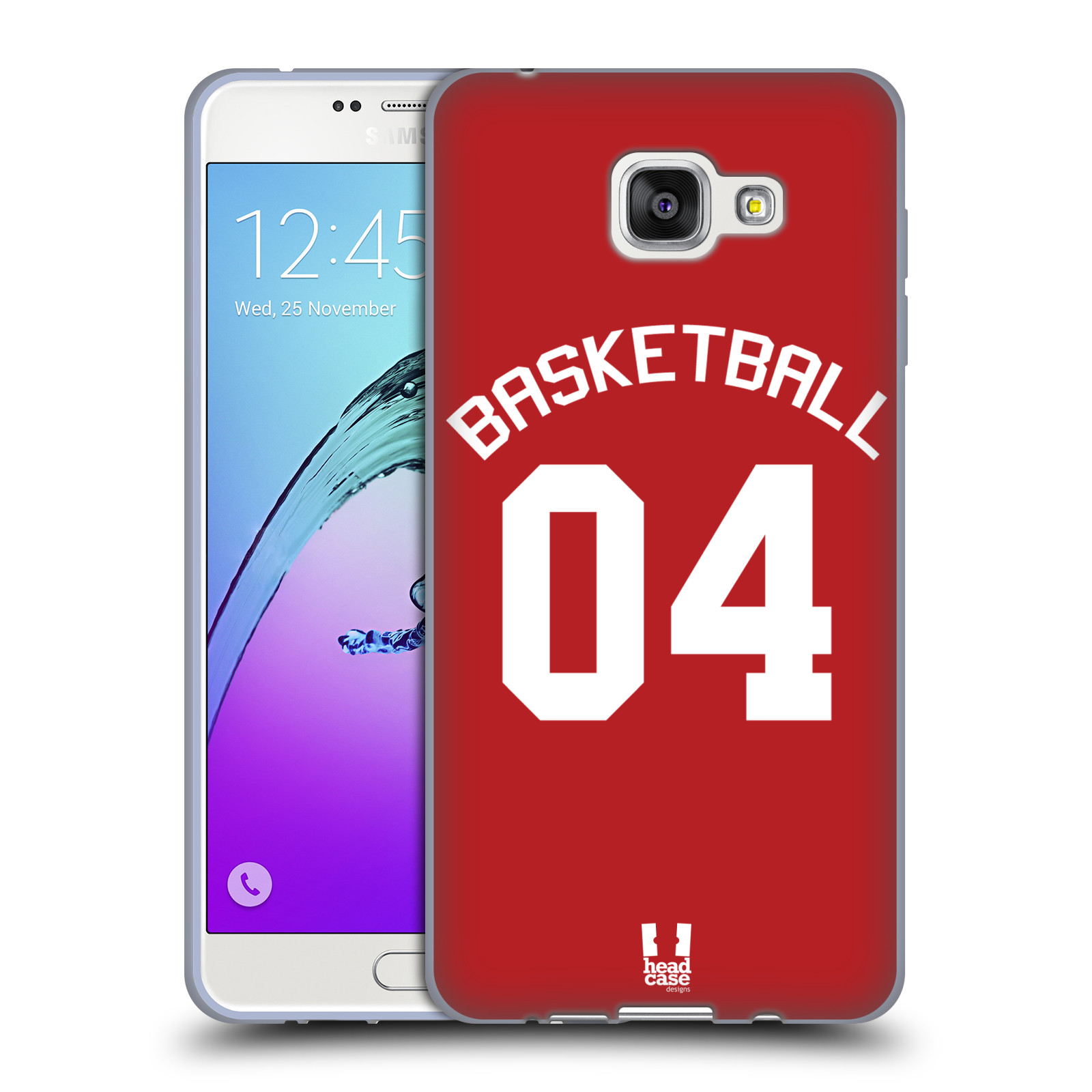 HEAD CASE silikonový obal na mobil Samsung Galaxy A7 2016 (A710) Sportovní dres Basketbal červený