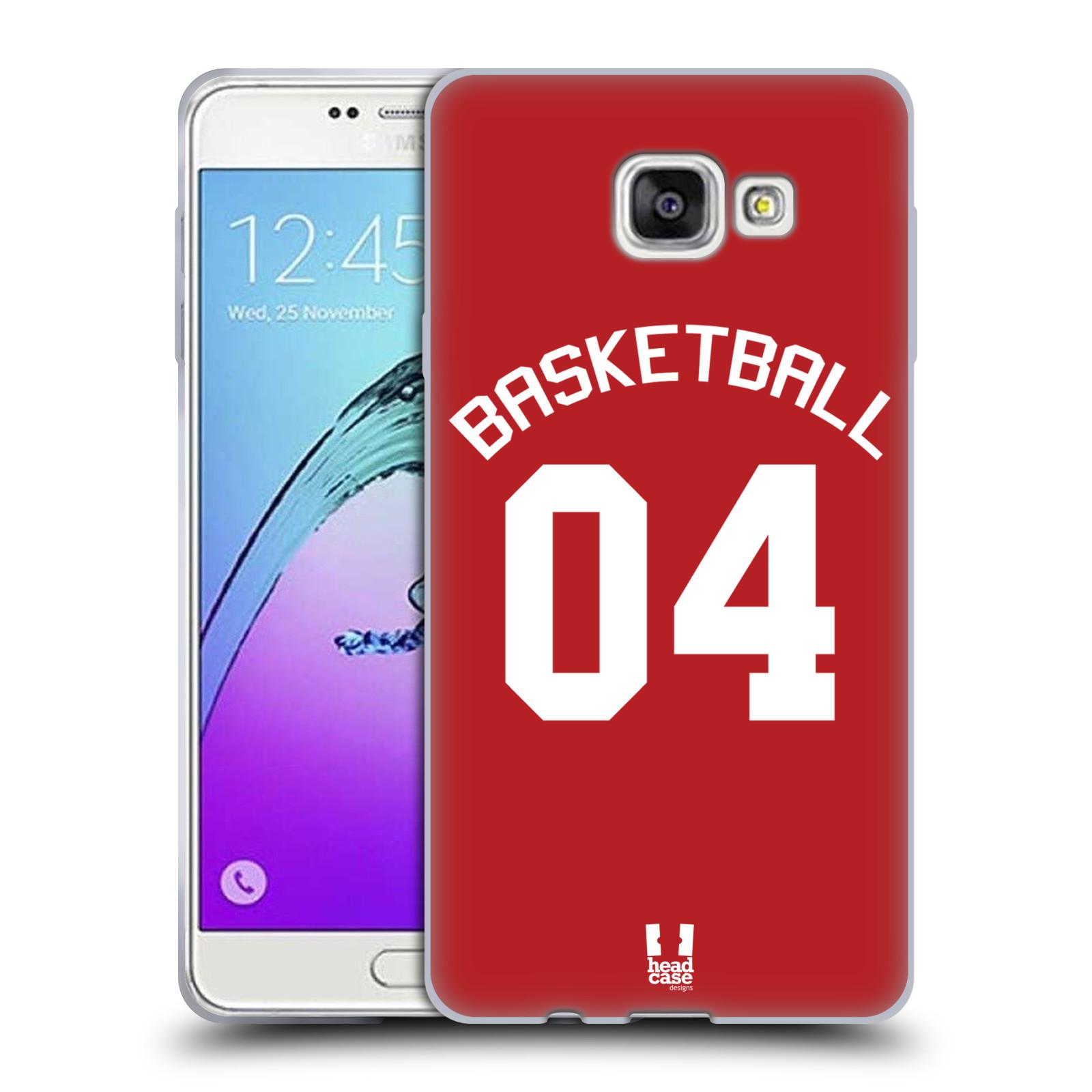 HEAD CASE silikonový obal na mobil Samsung Galaxy A7 2017 (A720) Sportovní dres Basketbal červený