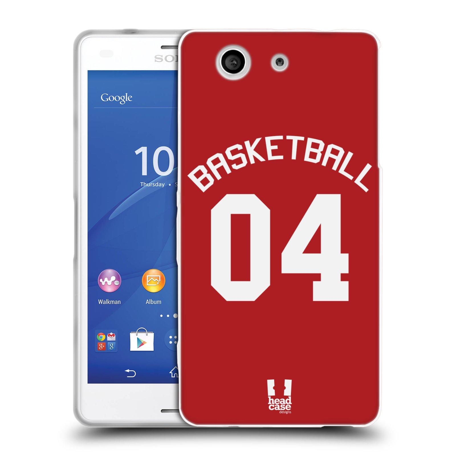 HEAD CASE silikonový obal na mobil Sony Xperia Z3 COMPACT Sportovní dres Basketbal červený