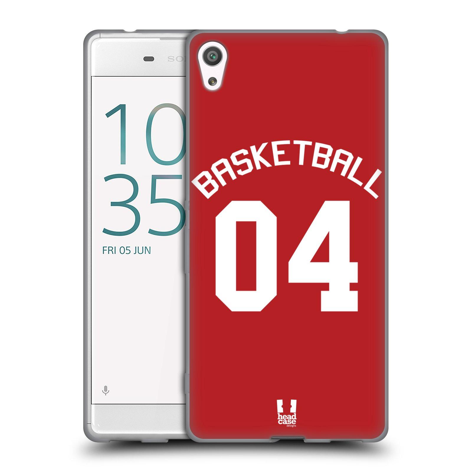 HEAD CASE silikonový obal na mobil Sony Xperia XA ULTRA Sportovní dres Basketbal červený