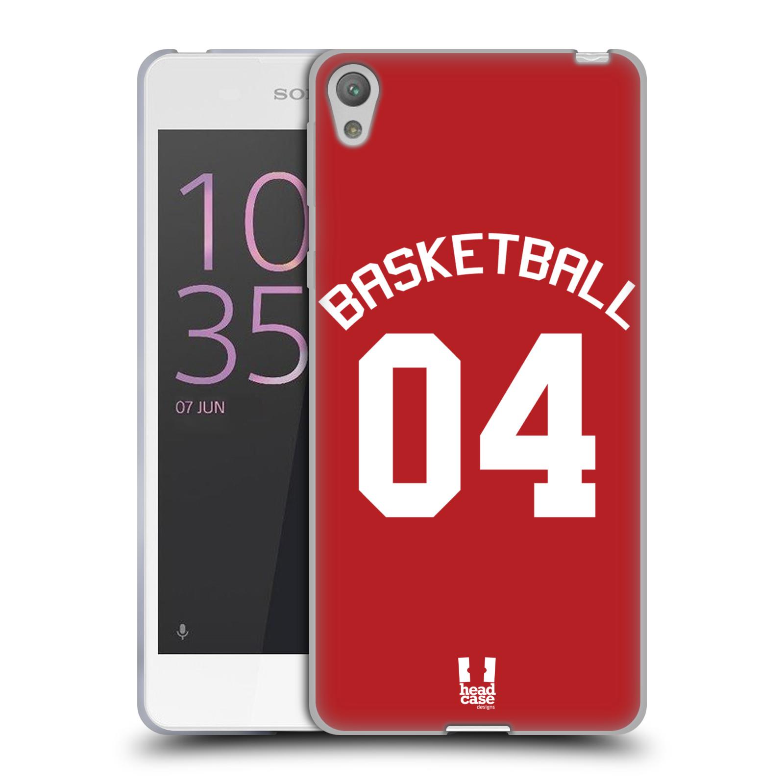 HEAD CASE silikonový obal na mobil Sony Xperia E5 Sportovní dres Basketbal červený