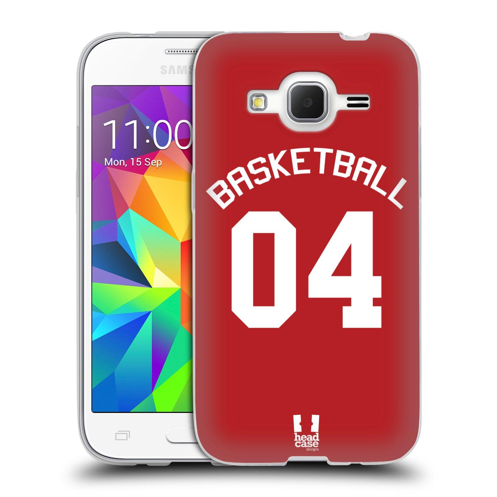HEAD CASE silikonový obal na mobil Samsung Galaxy Core Prime (G360) Sportovní dres Basketbal červený