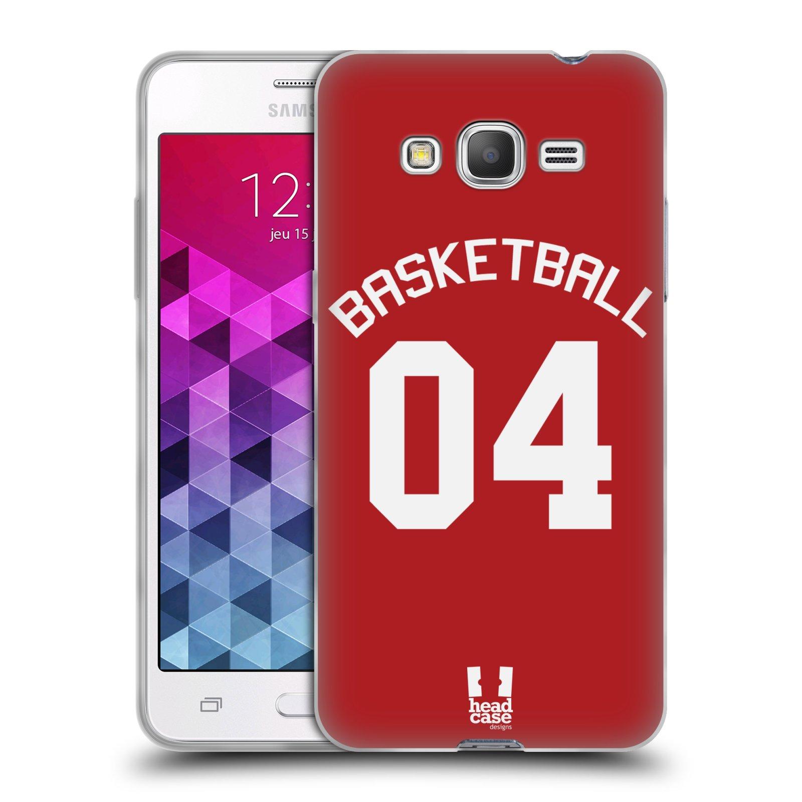 HEAD CASE silikonový obal na mobil Samsung Galaxy Grand Prime Sportovní dres Basketbal červený
