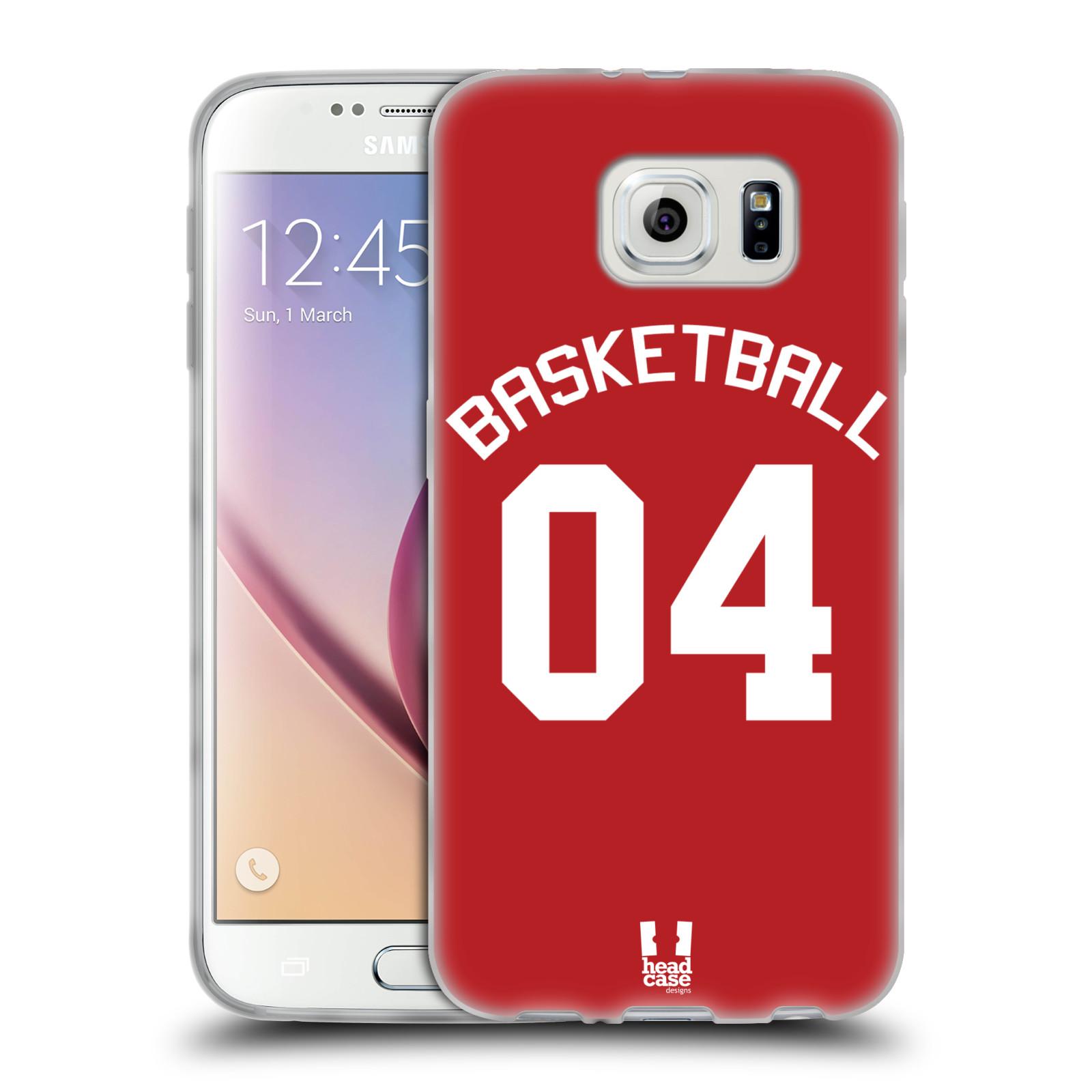 HEAD CASE silikonový obal na mobil Samsung Galaxy S6 Sportovní dres Basketbal červený
