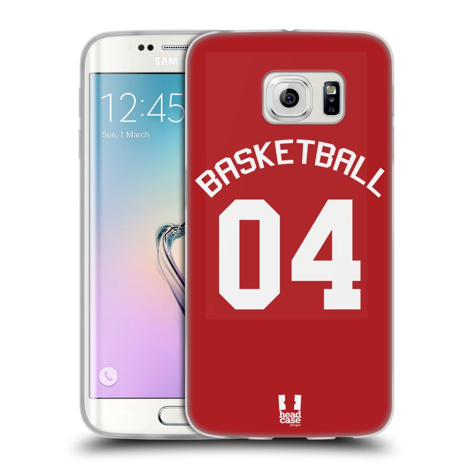 HEAD CASE silikonový obal na mobil Samsung Galaxy S6 EDGE Sportovní dres Basketbal červený