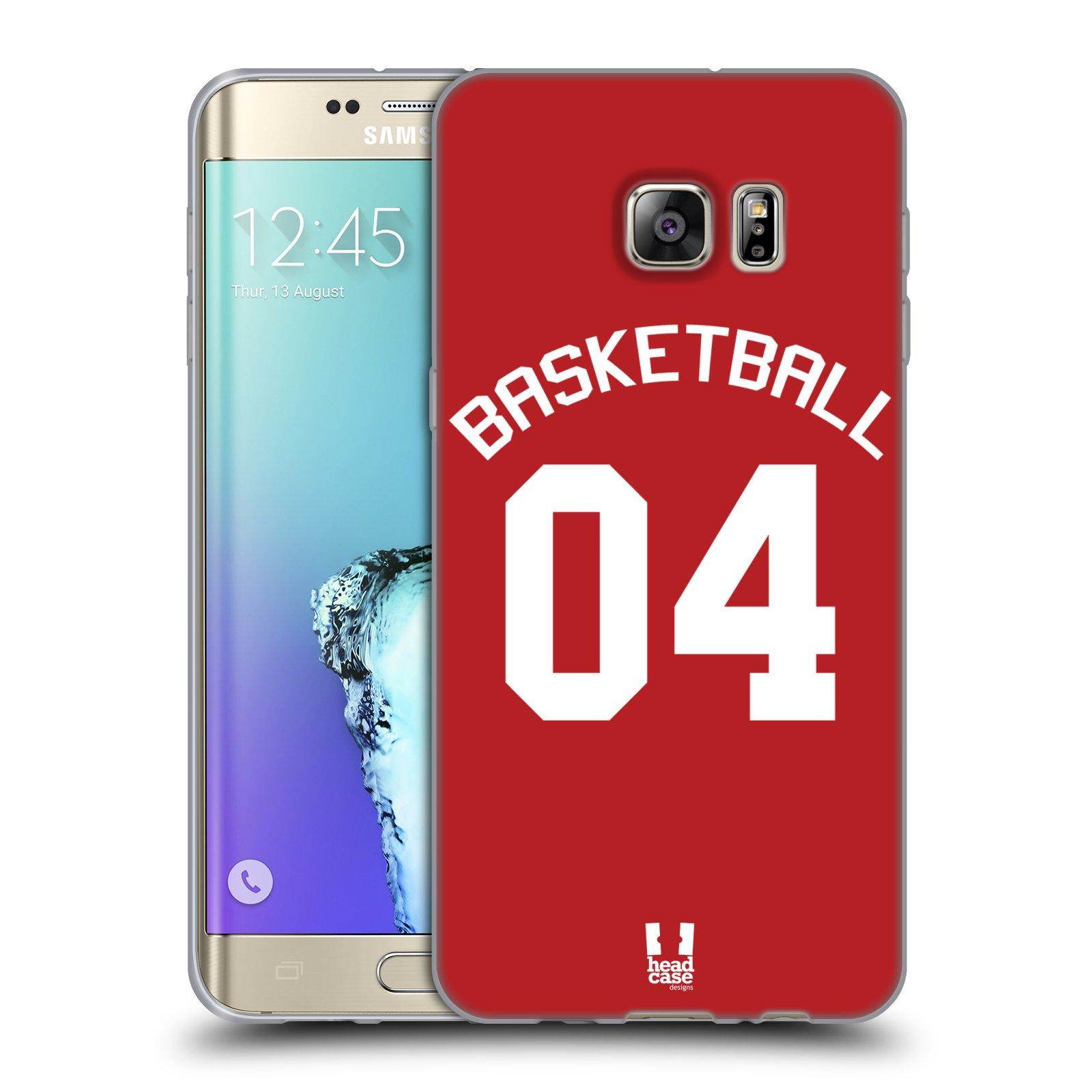 HEAD CASE silikonový obal na mobil Samsung Galaxy S6 EDGE PLUS Sportovní dres Basketbal červený