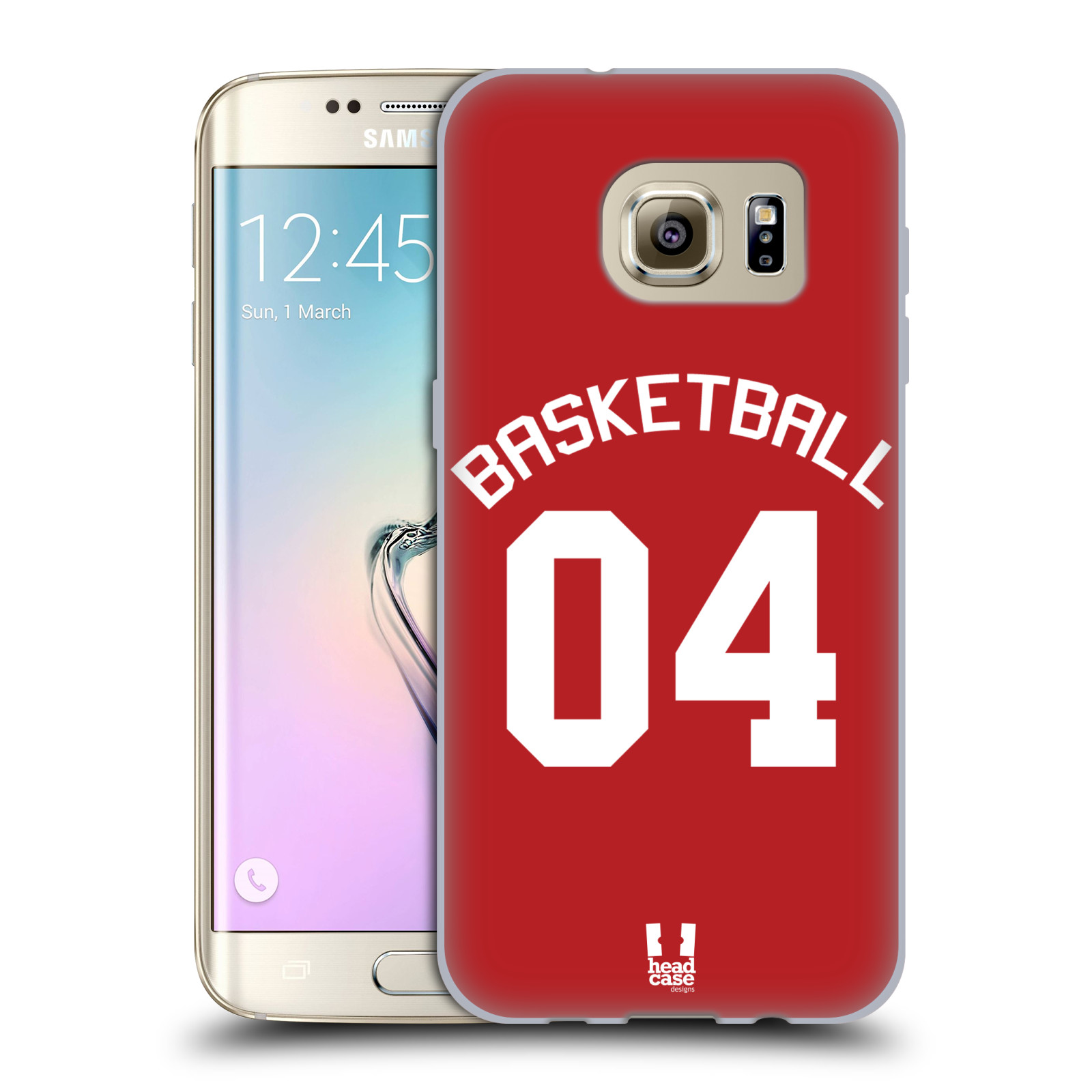 HEAD CASE silikonový obal na mobil Samsung Galaxy S7 EDGE Sportovní dres Basketbal červený