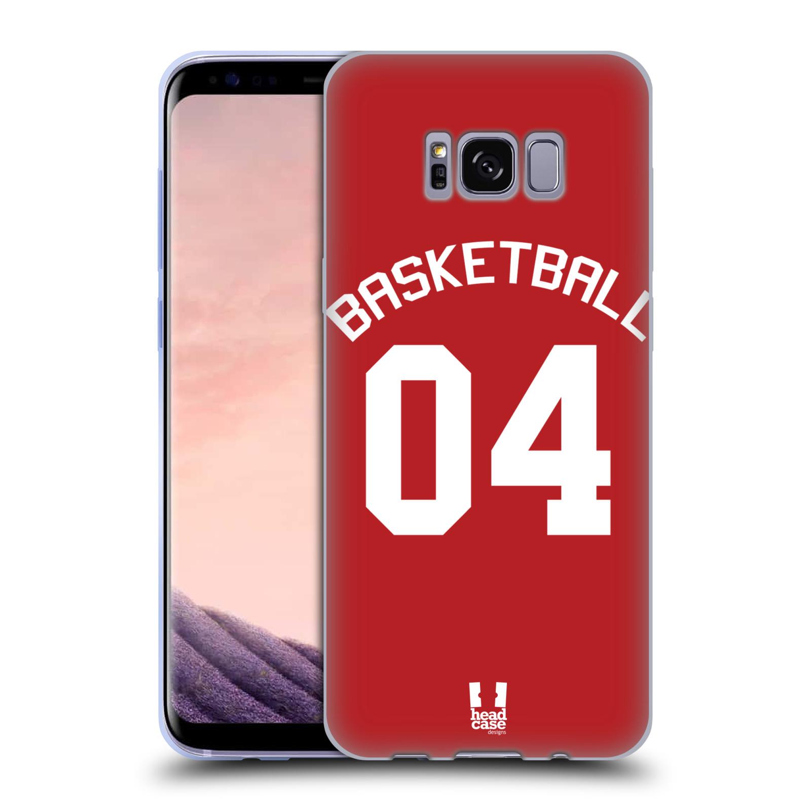 HEAD CASE silikonový obal na mobil Samsung Galaxy S8 Sportovní dres Basketbal červený