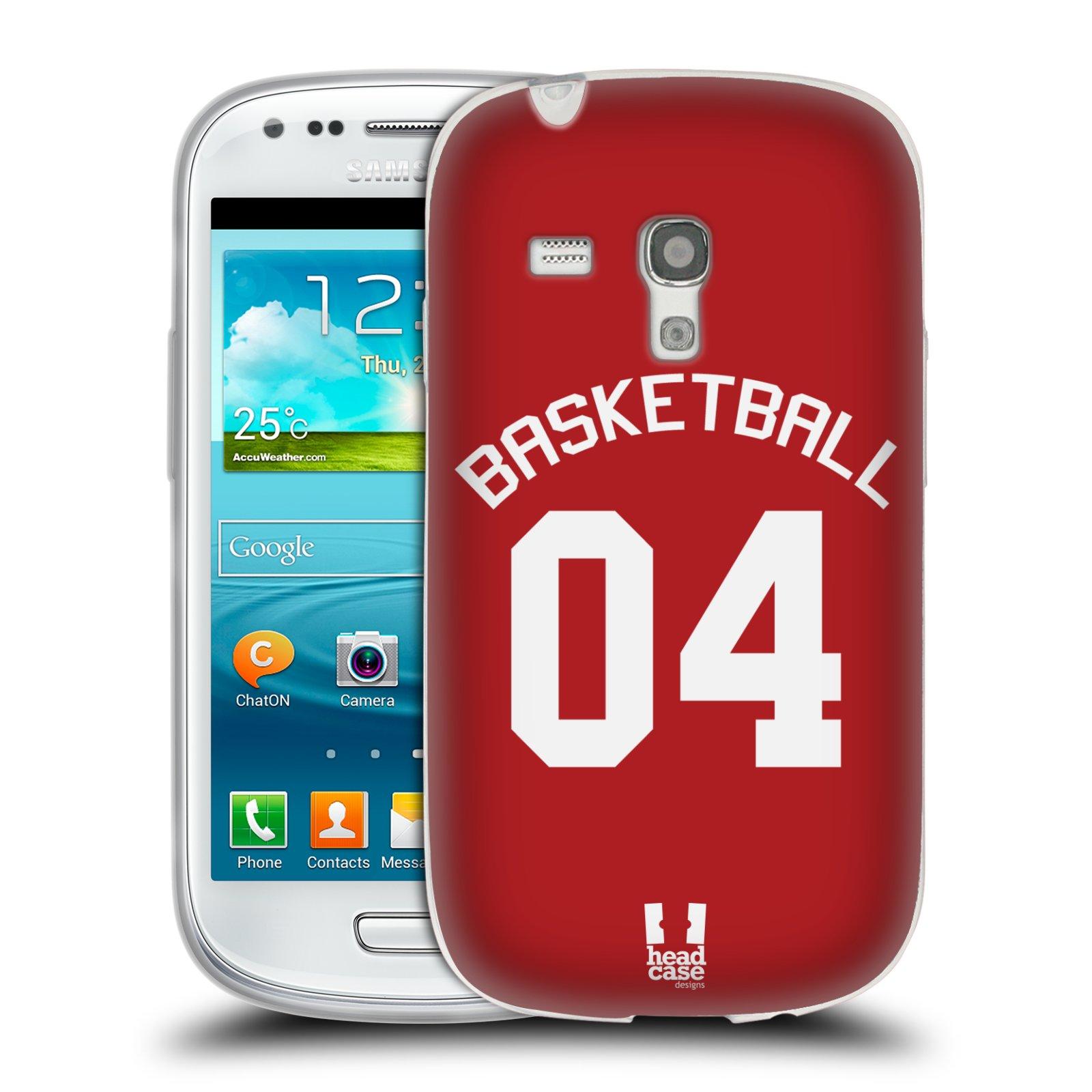 HEAD CASE silikonový obal na mobil Samsung Galaxy S3 MINI Sportovní dres Basketbal červený