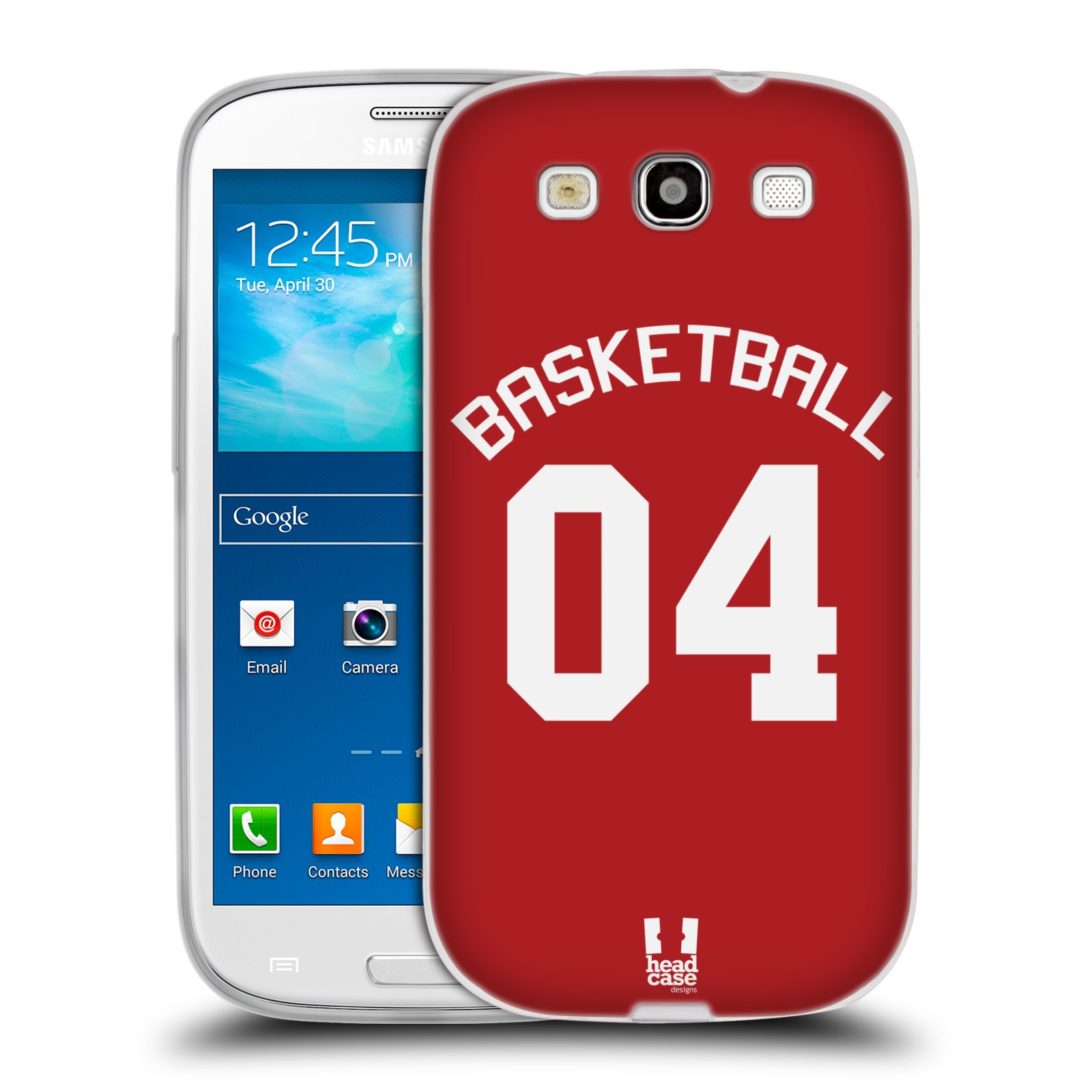 HEAD CASE silikonový obal na mobil Samsung Galaxy S3 Sportovní dres Basketbal červený