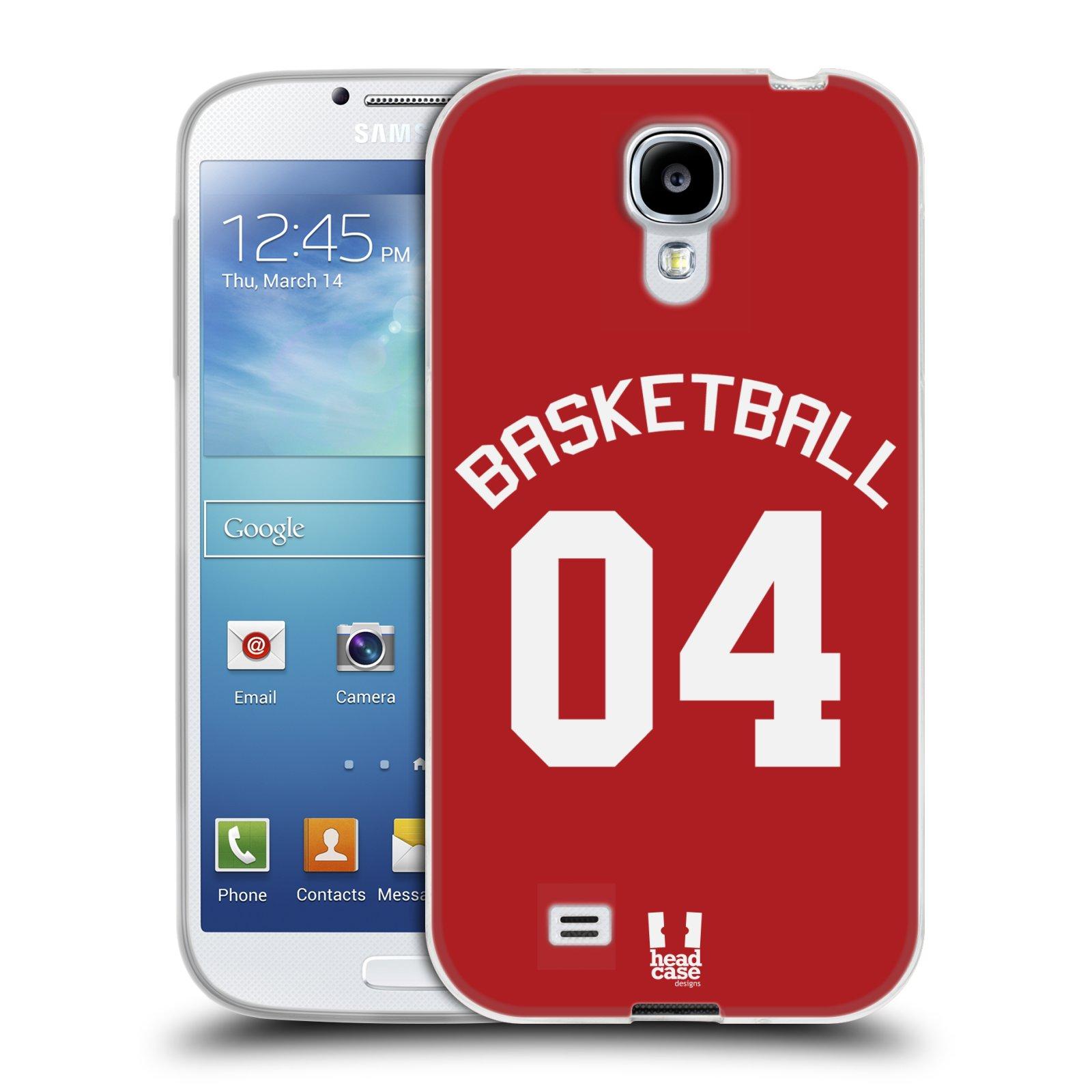 HEAD CASE silikonový obal na mobil Samsung Galaxy S4 Sportovní dres Basketbal červený
