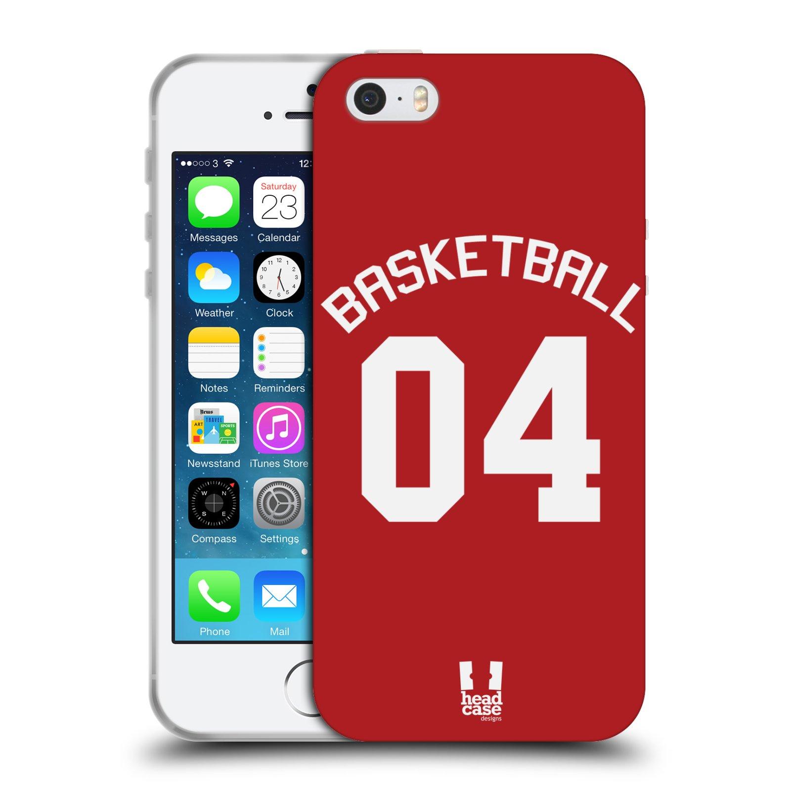 HEAD CASE silikonový obal na mobil Apple Iphone 5/5S Sportovní dres Basketbal červený