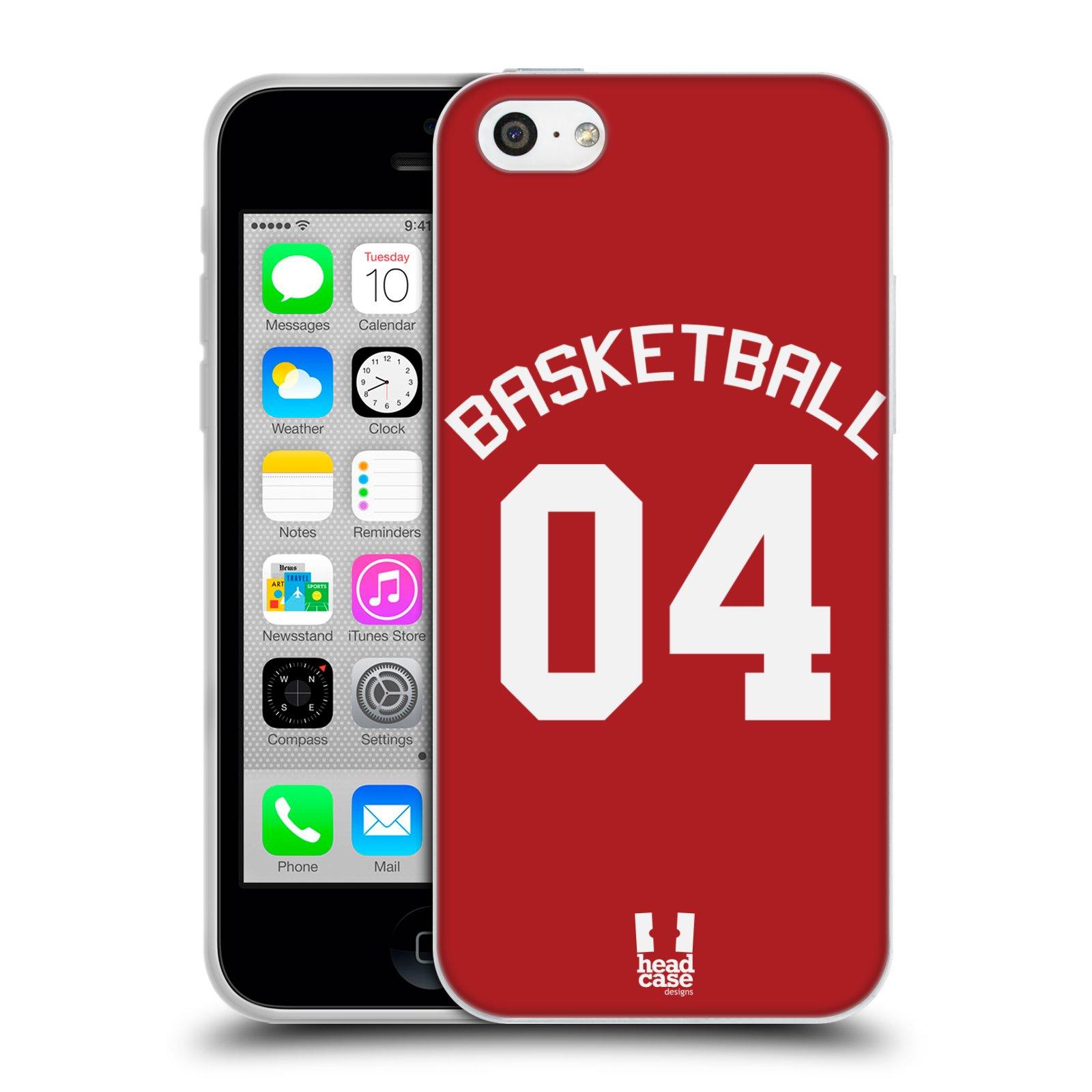 HEAD CASE silikonový obal na mobil Apple Iphone 5C Sportovní dres Basketbal červený